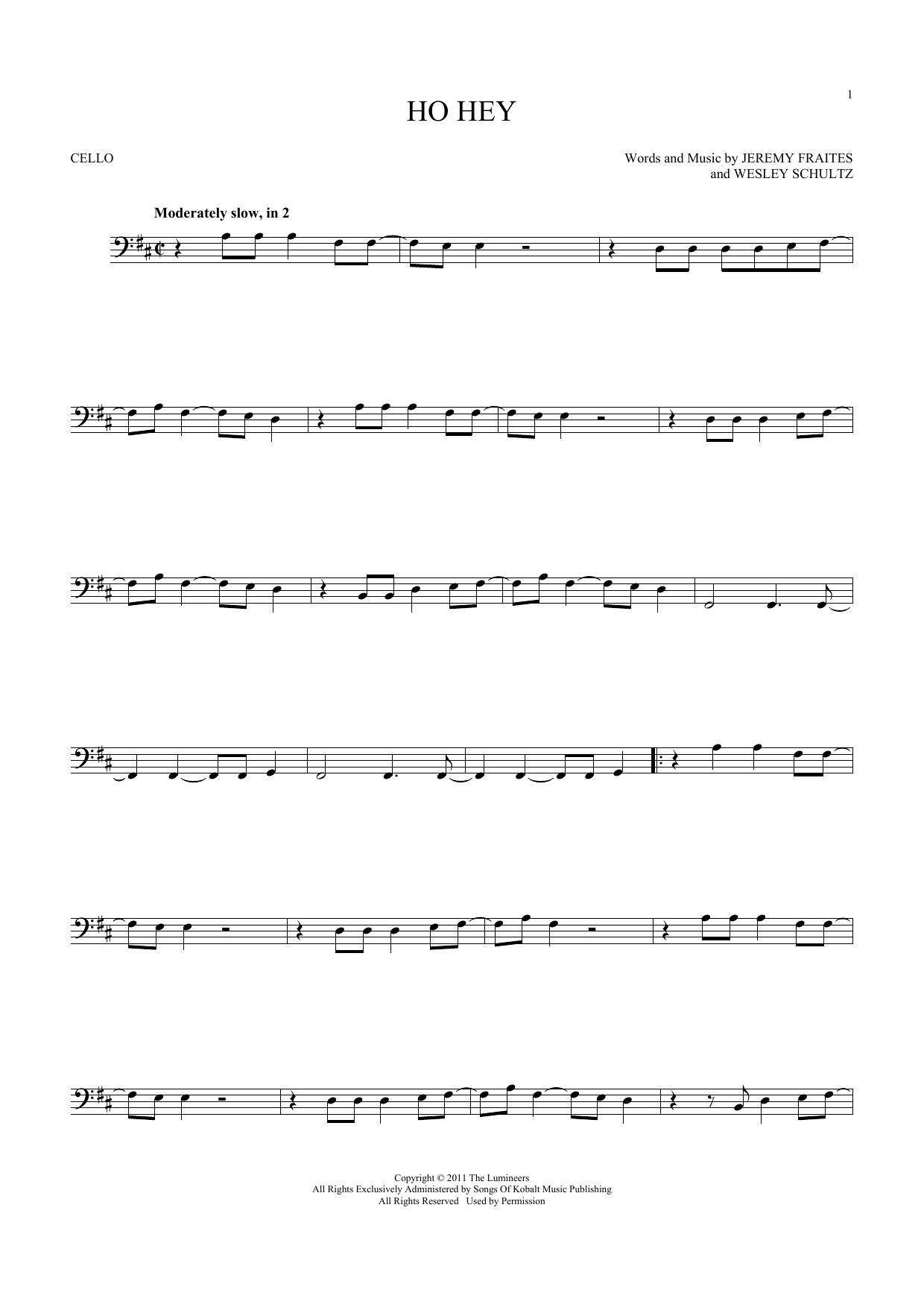 Ho Hey (Cello Solo)