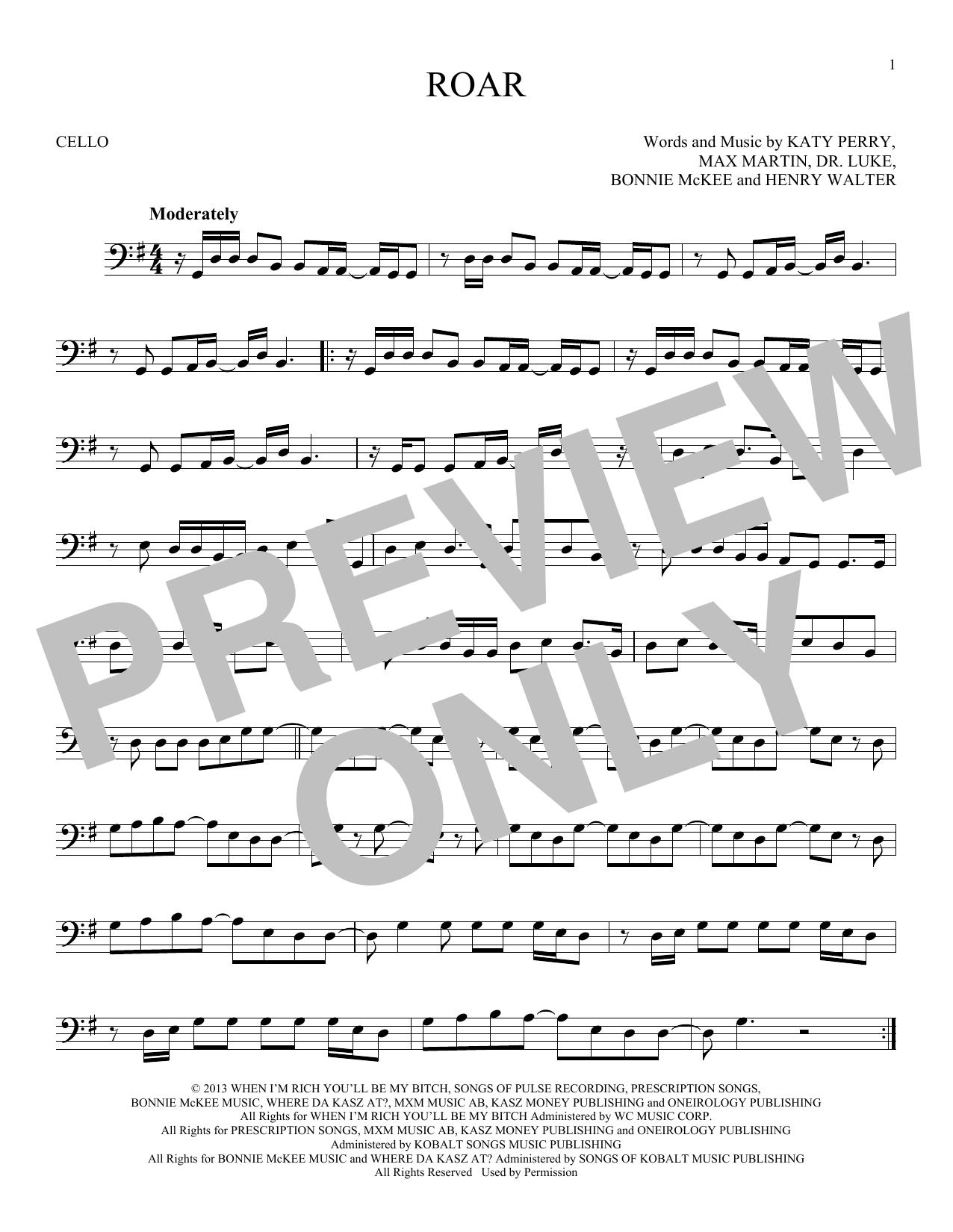 Roar (Cello Solo)