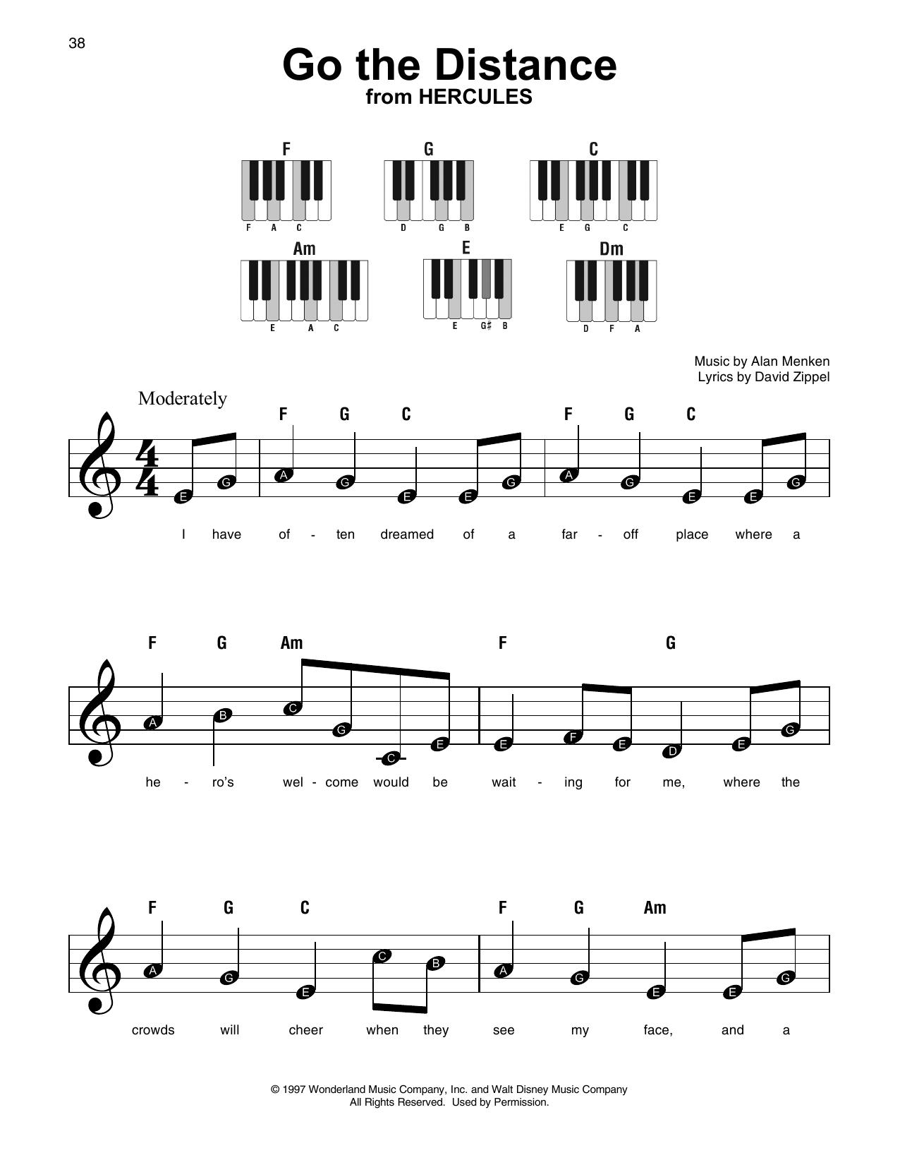 Go The Distance (Super Easy Piano)