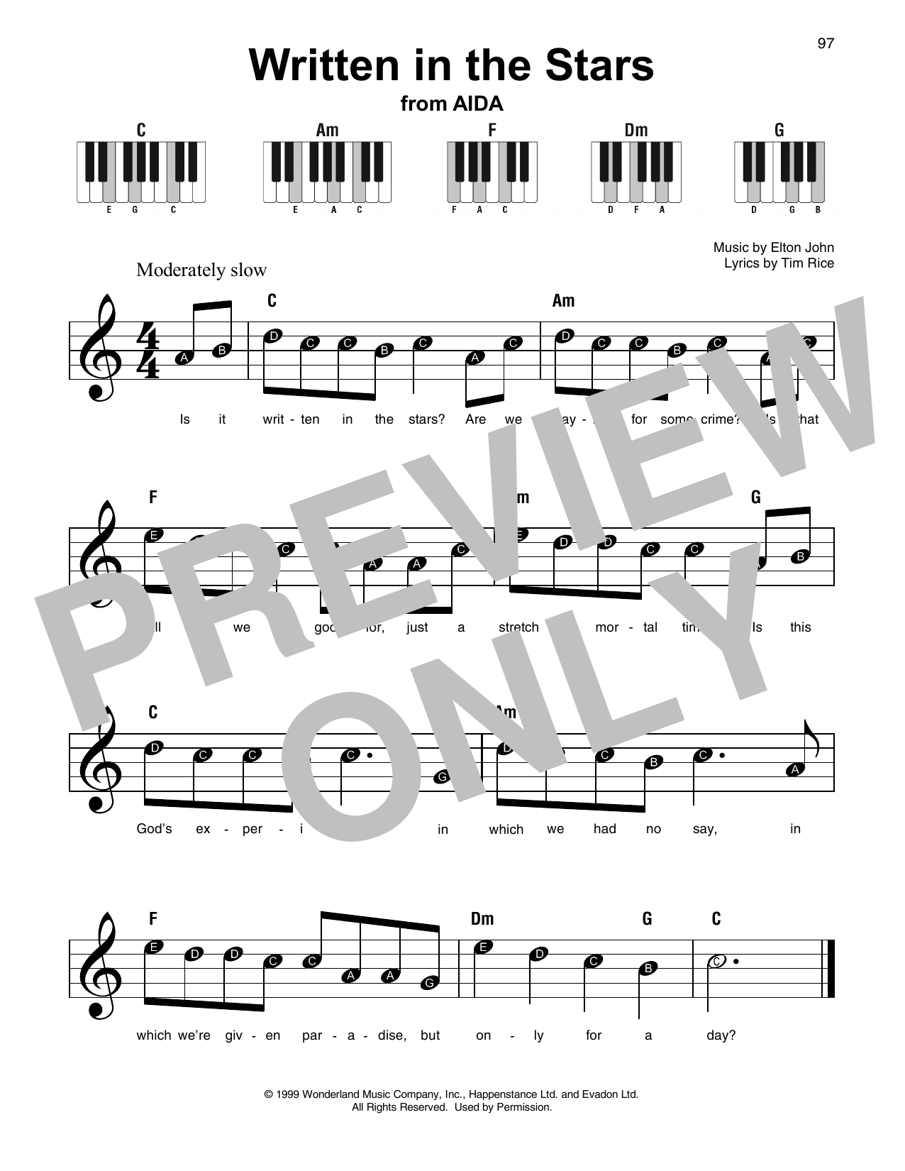 Written In The Stars (Super Easy Piano)