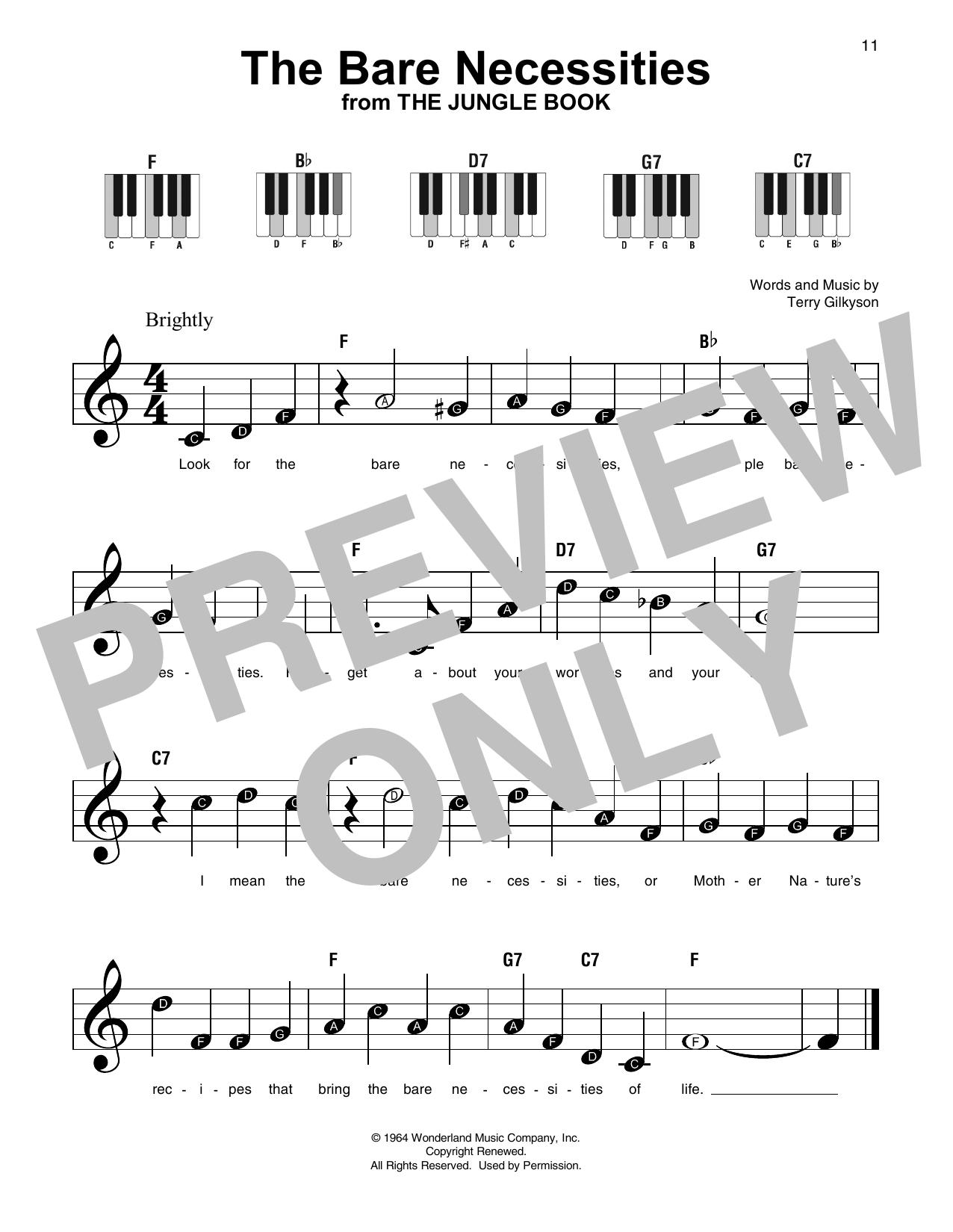 The Bare Necessities (Super Easy Piano)