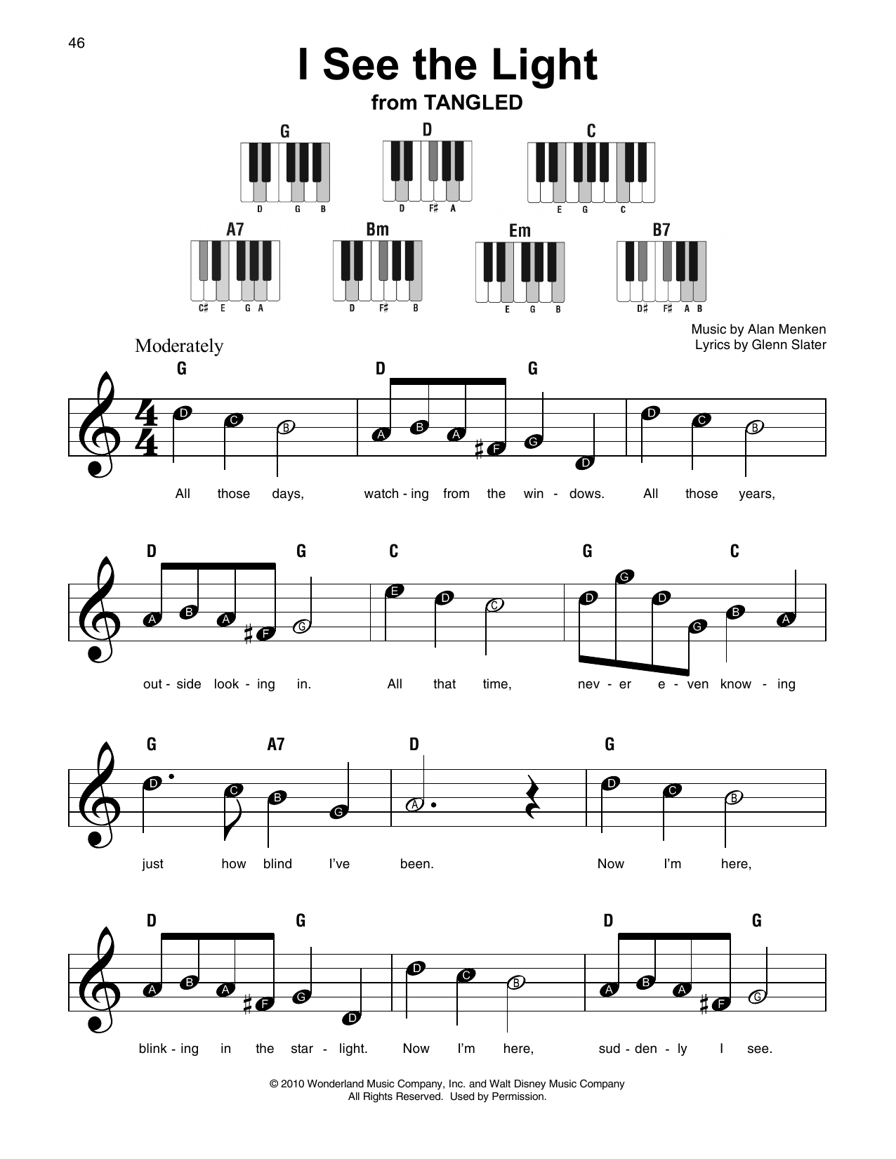 I See The Light (from Disney's Tangled) (Super Easy Piano)