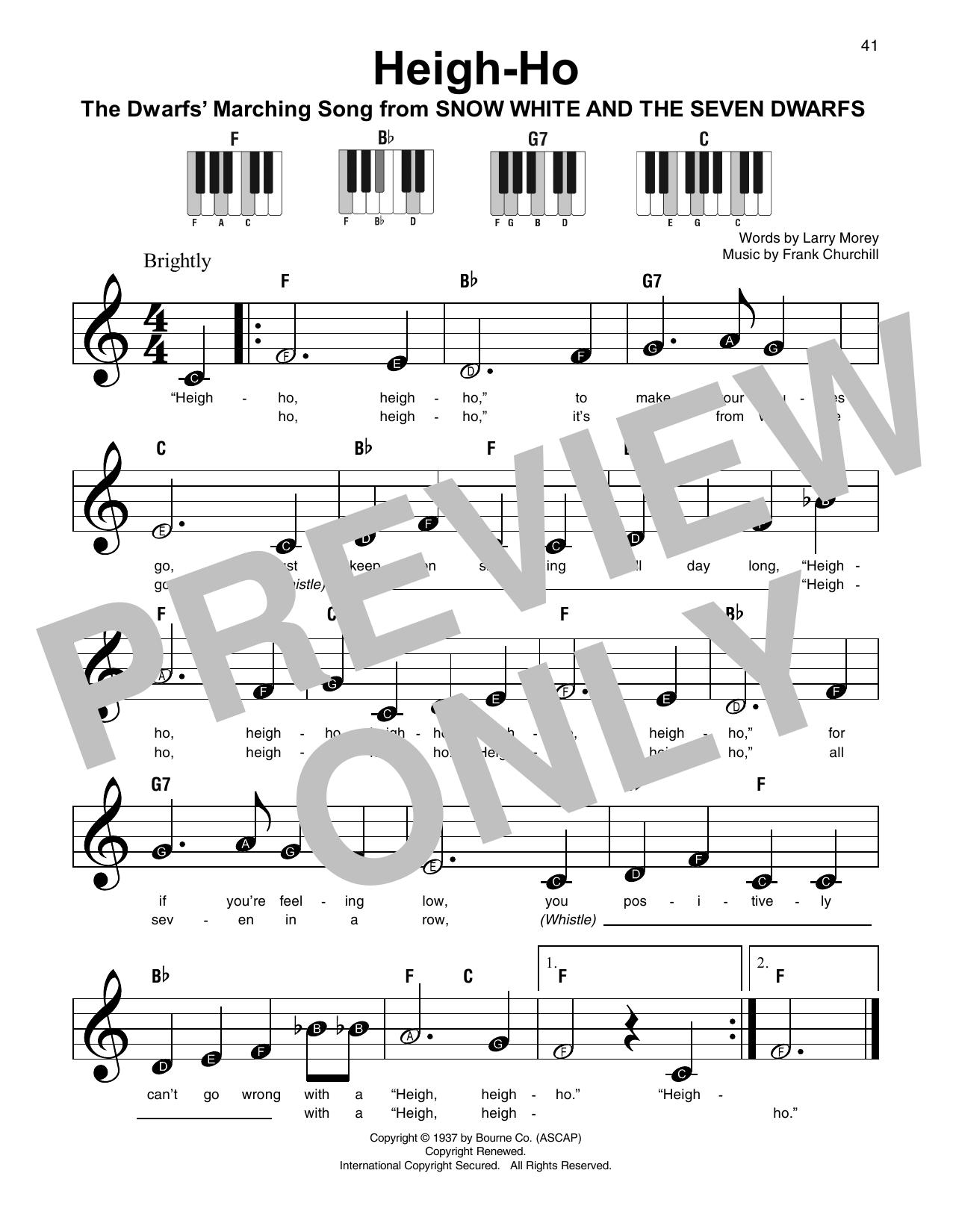 Heigh-Ho Sheet Music