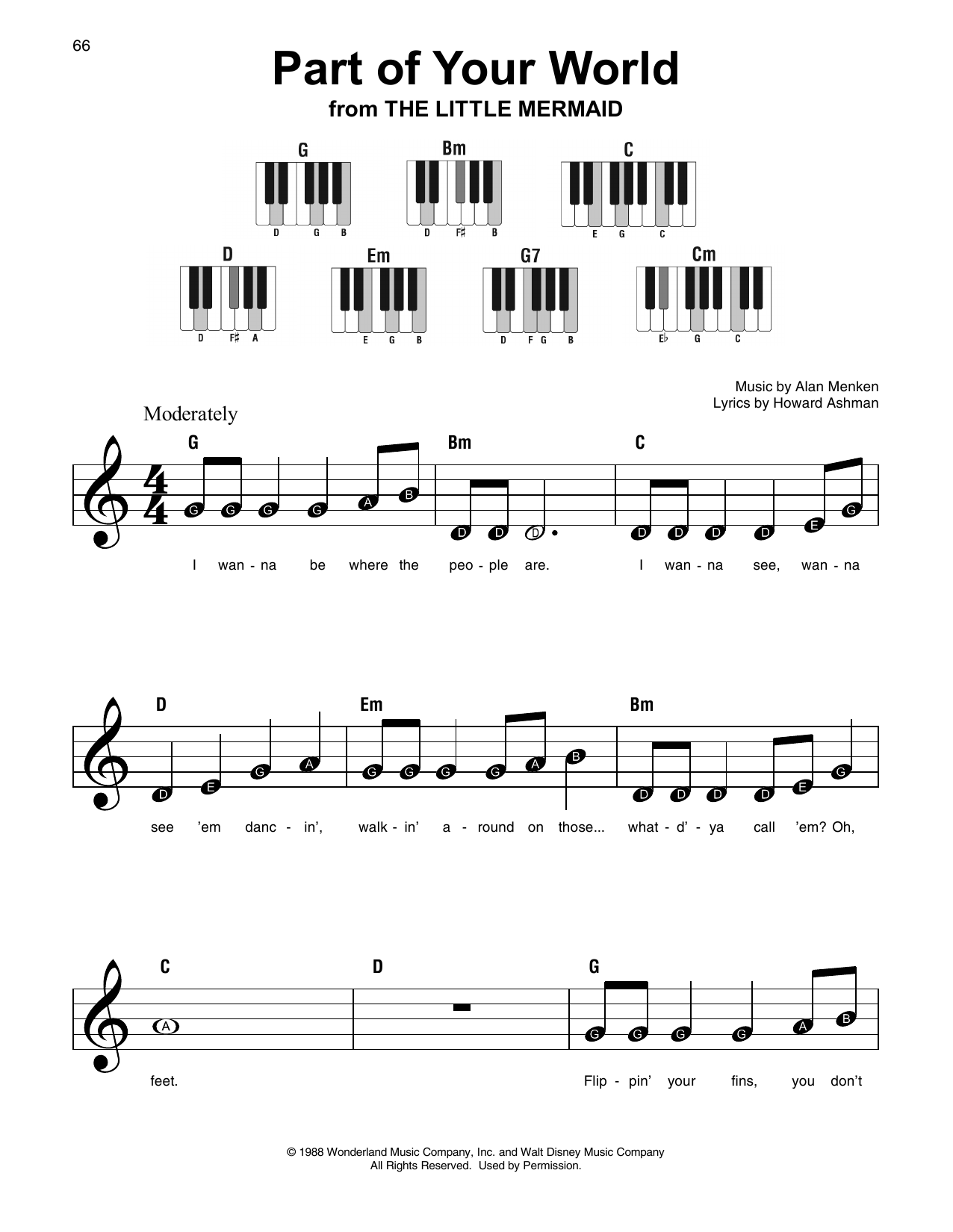 Part Of Your World (from The Little Mermaid) (Super Easy Piano)