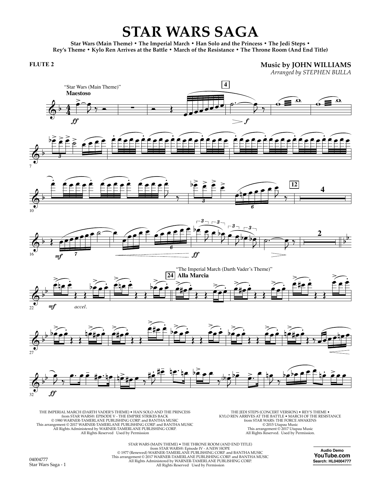 Star Wars Saga - Flute 2 Sheet Music