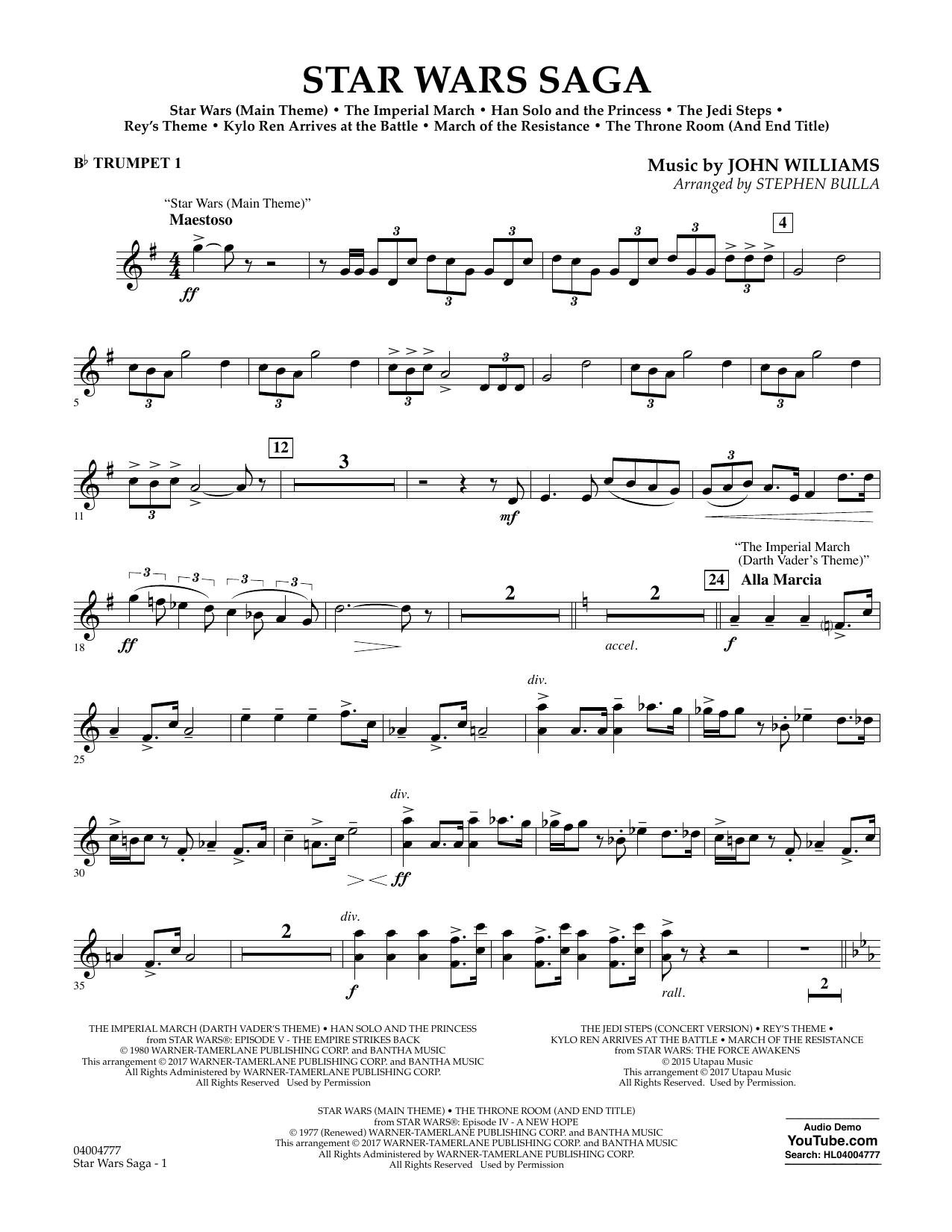 Star Wars Saga - Bb Trumpet 1 Sheet Music
