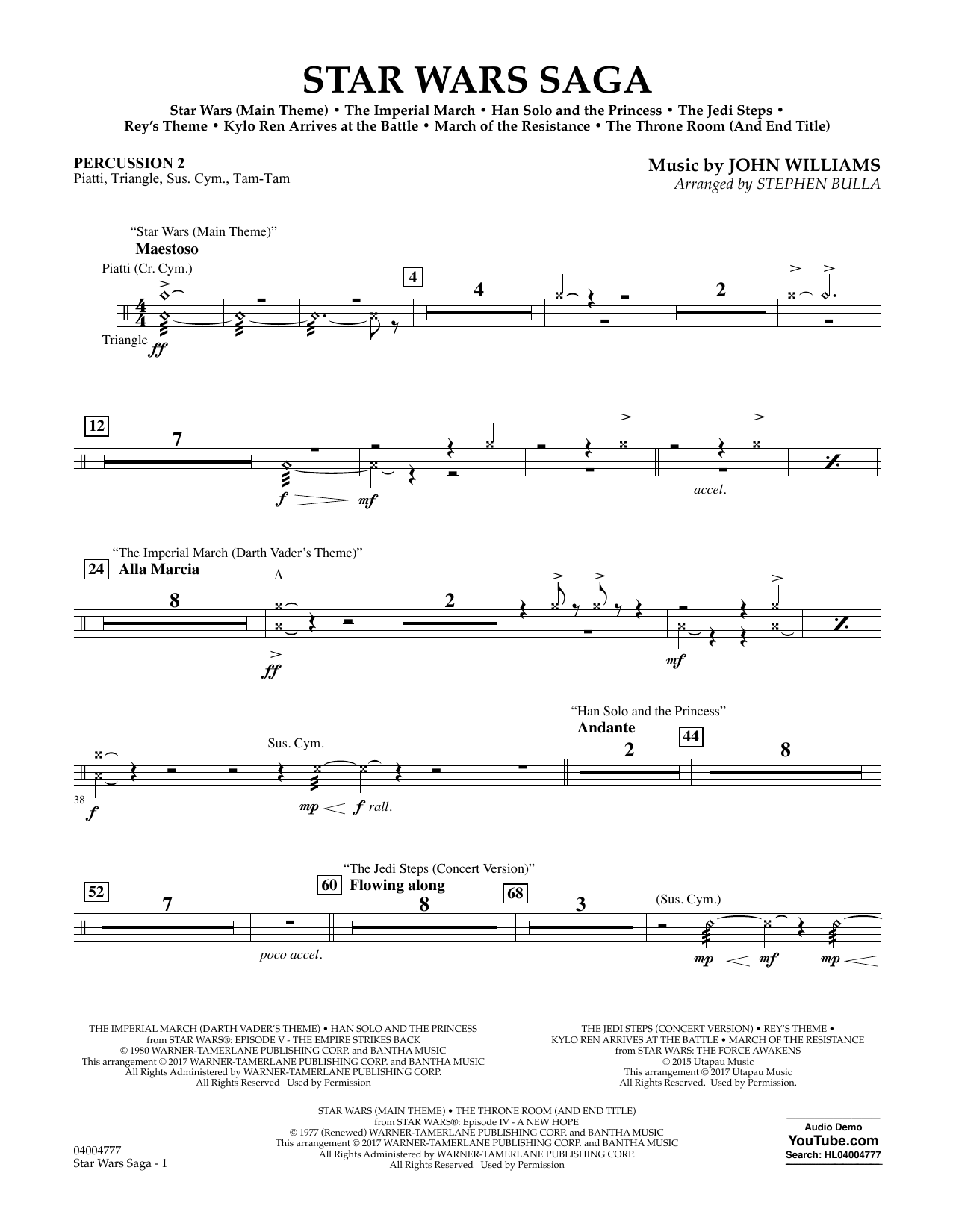 Star Wars Saga - Percussion 2 Sheet Music