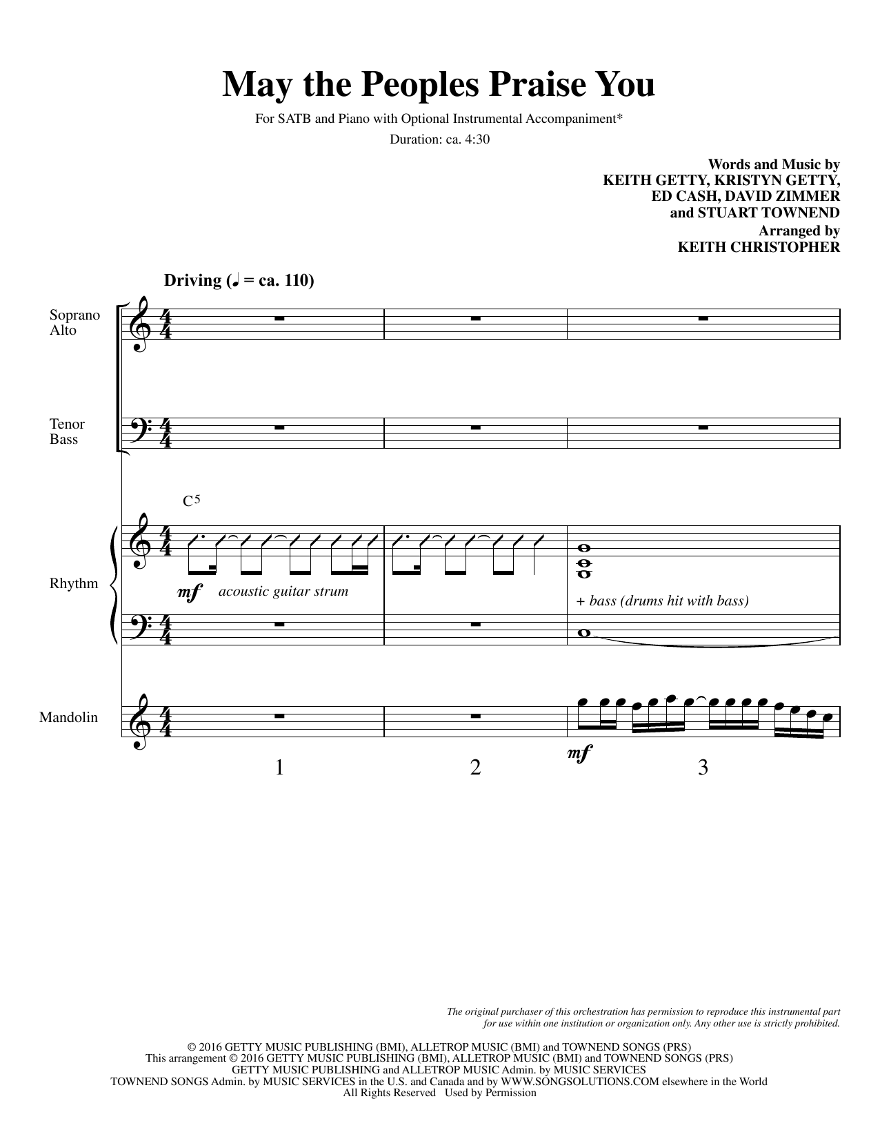May the Peoples Praise You - Full Score Partition Digitale