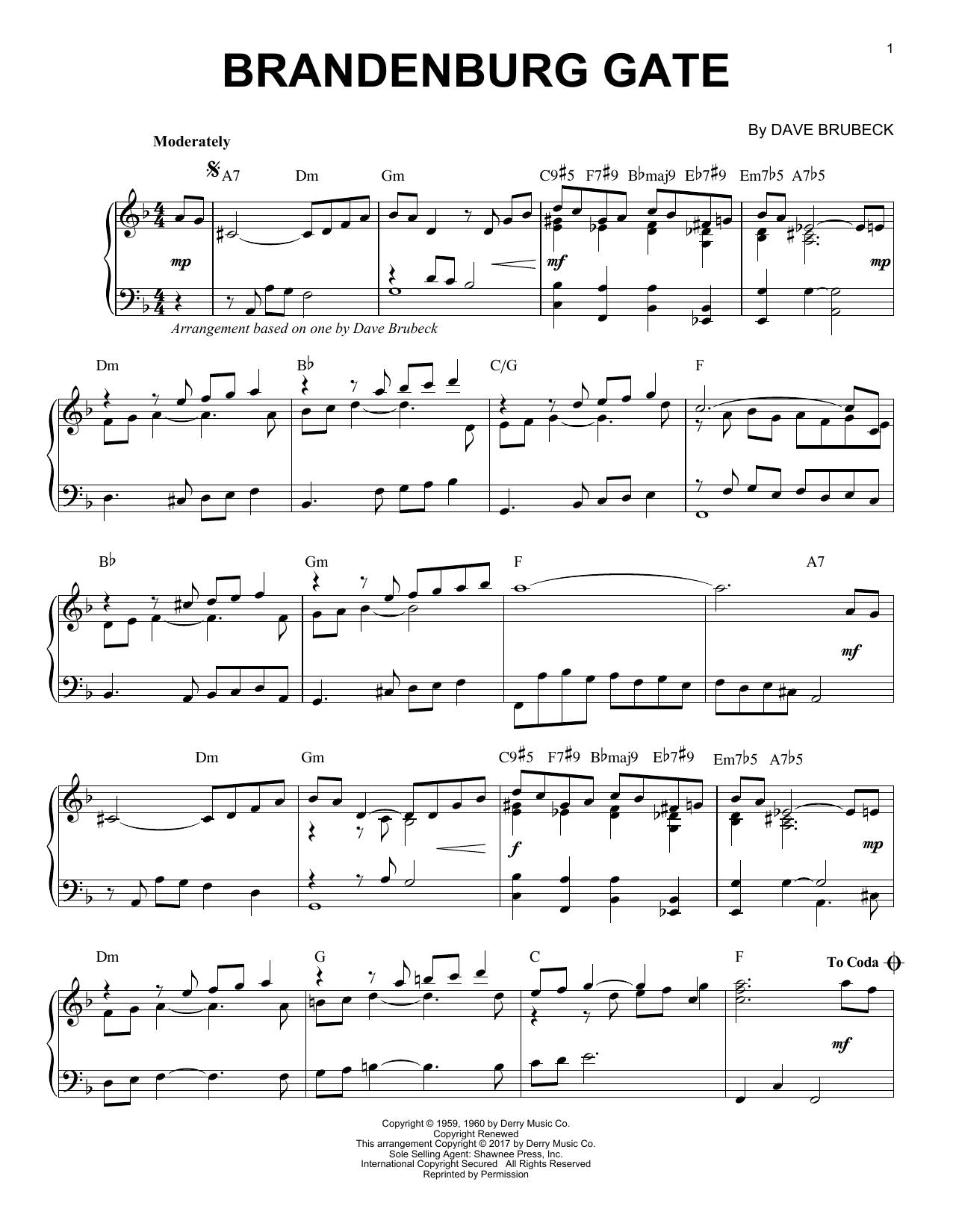 Brandenburg Gate (Piano Solo)