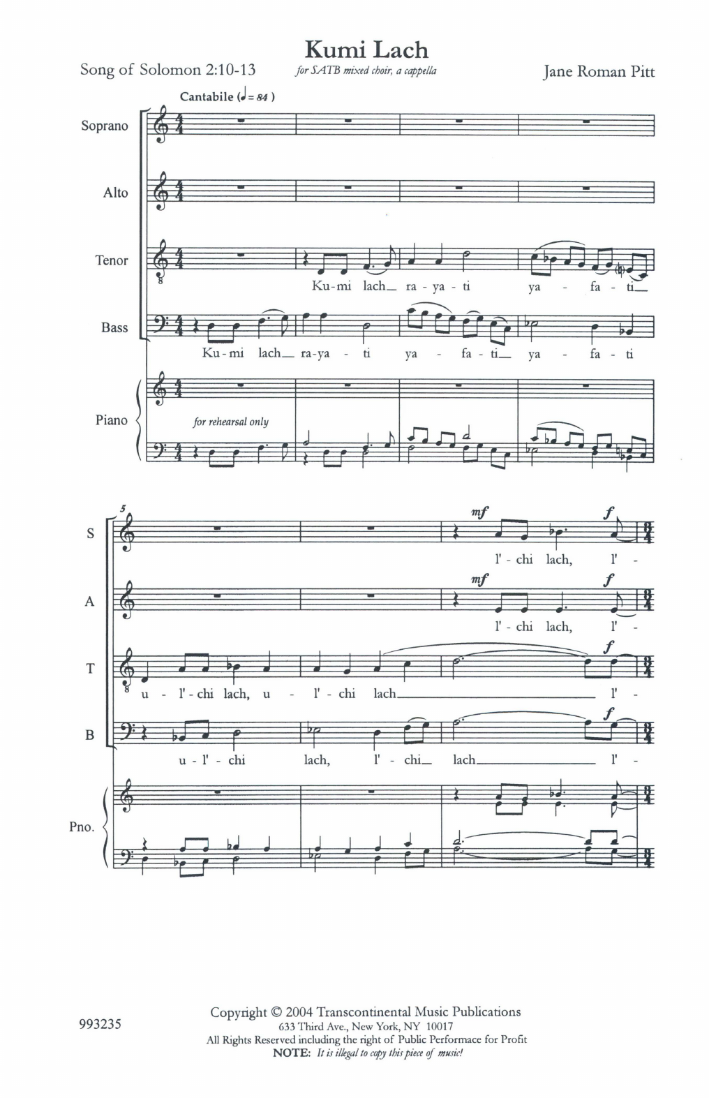 Kumi Lach Sheet Music