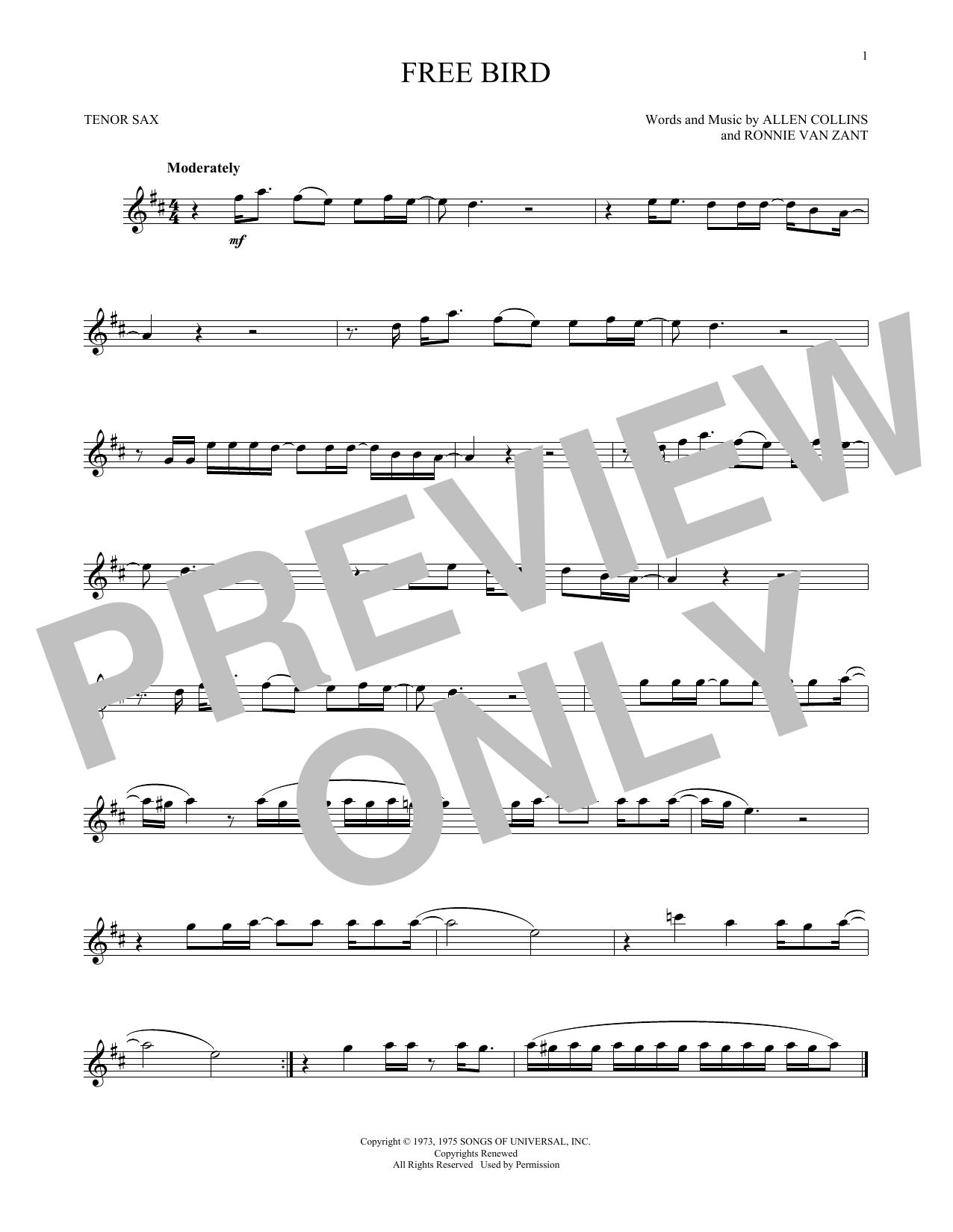 Free Bird (Tenor Sax Solo)