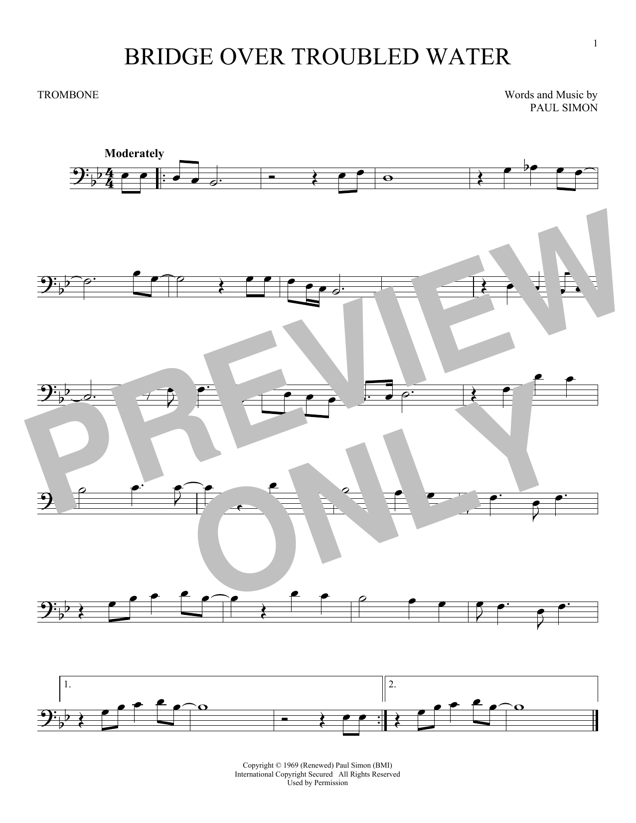 bridge over troubled water sheet music piano pdf