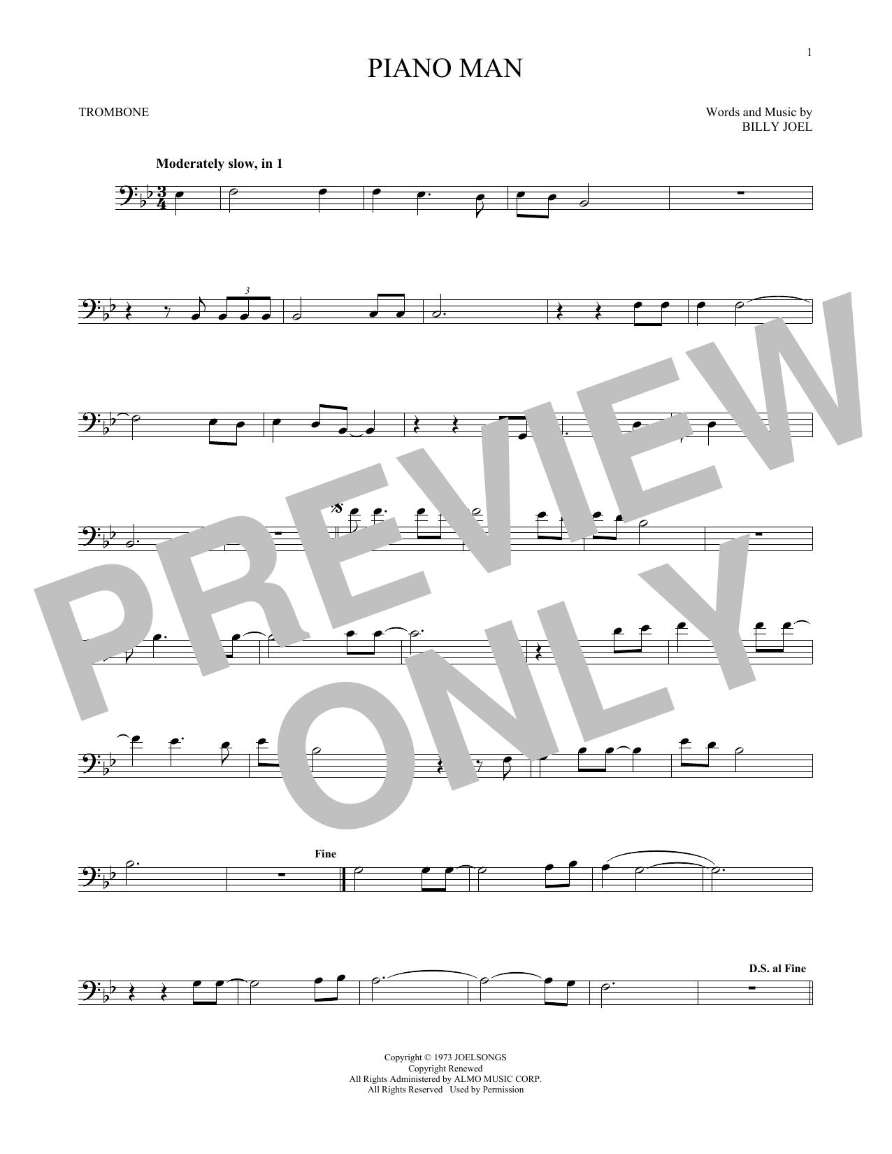 Piano Man (Trombone Solo)