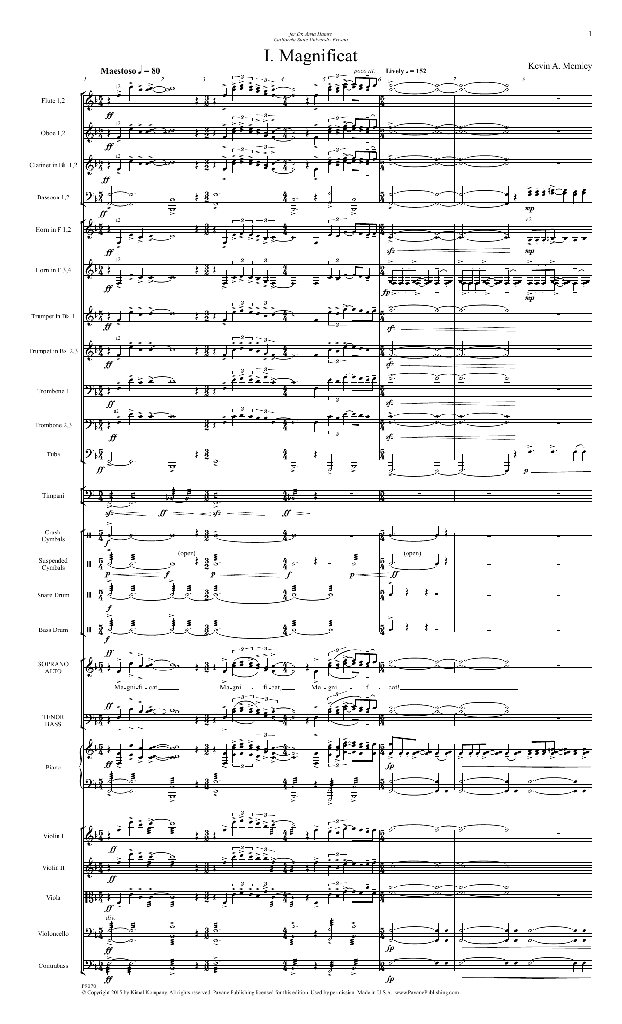 Magnificat - Full Score Sheet Music