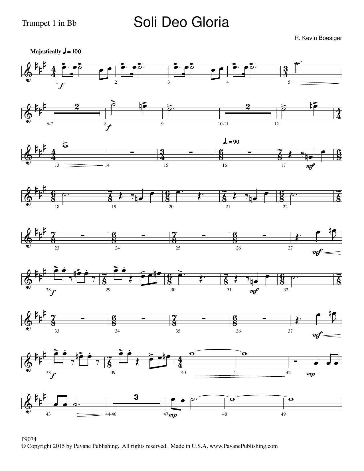 Soli Deo Gloria - Trumpet 1 Sheet Music