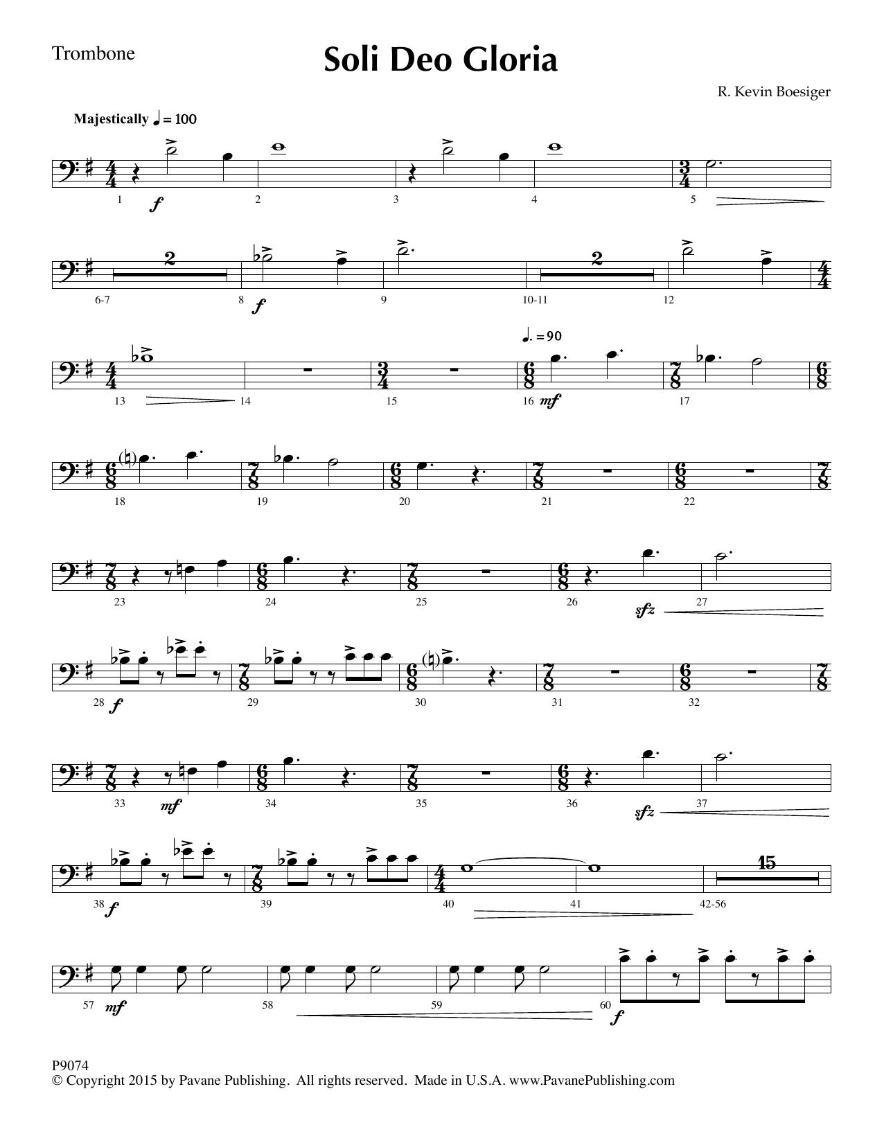 Soli Deo Gloria - Trombone Sheet Music