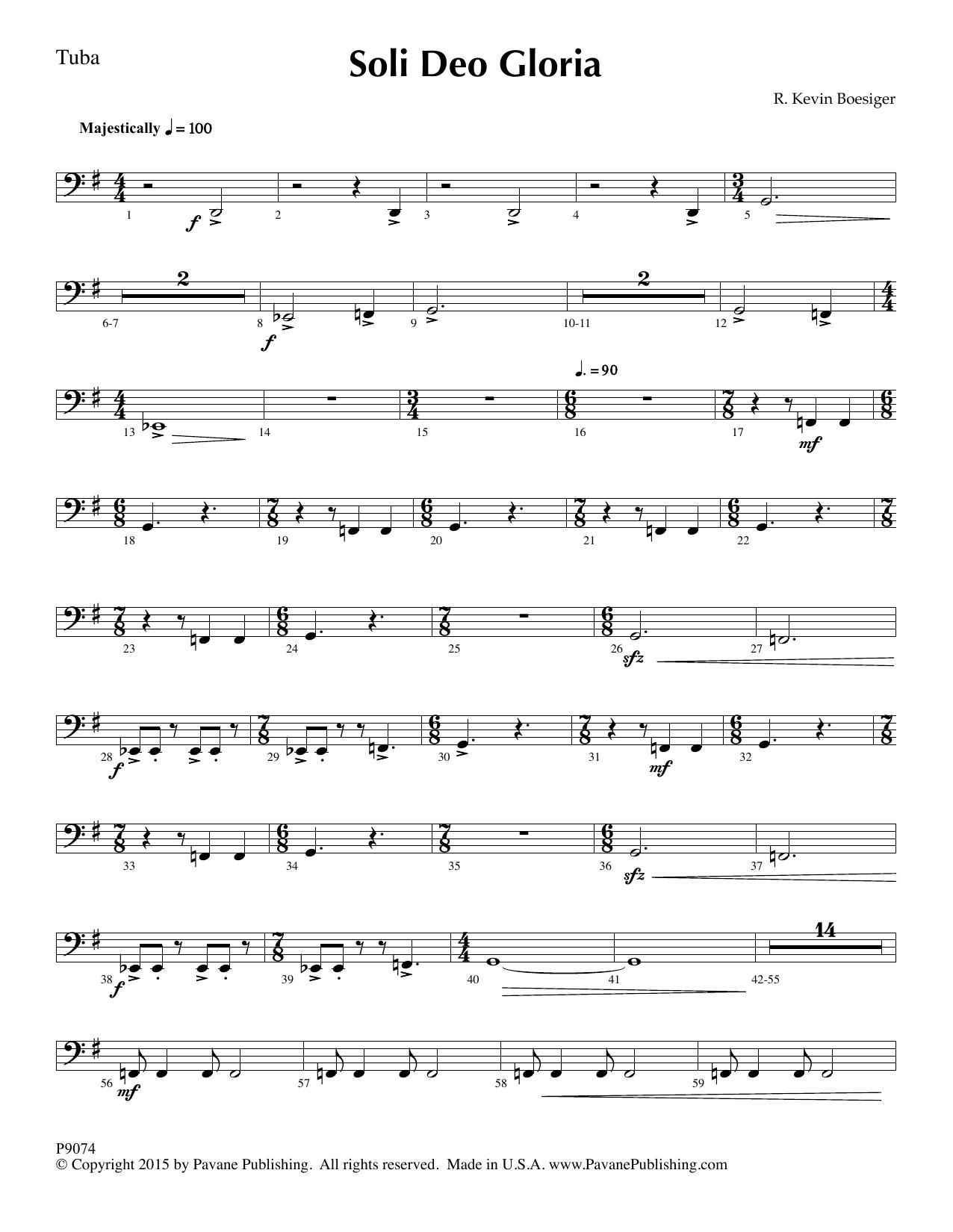 Soli Deo Gloria - Tuba Partition Digitale