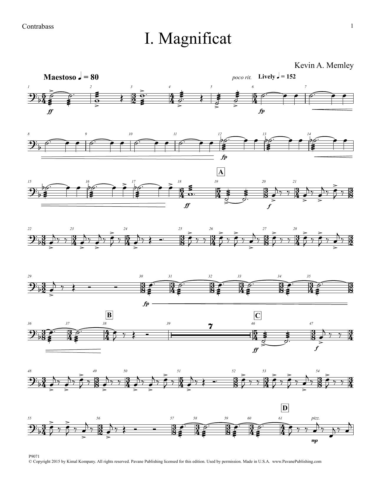 Magnificat - Contrabass Sheet Music