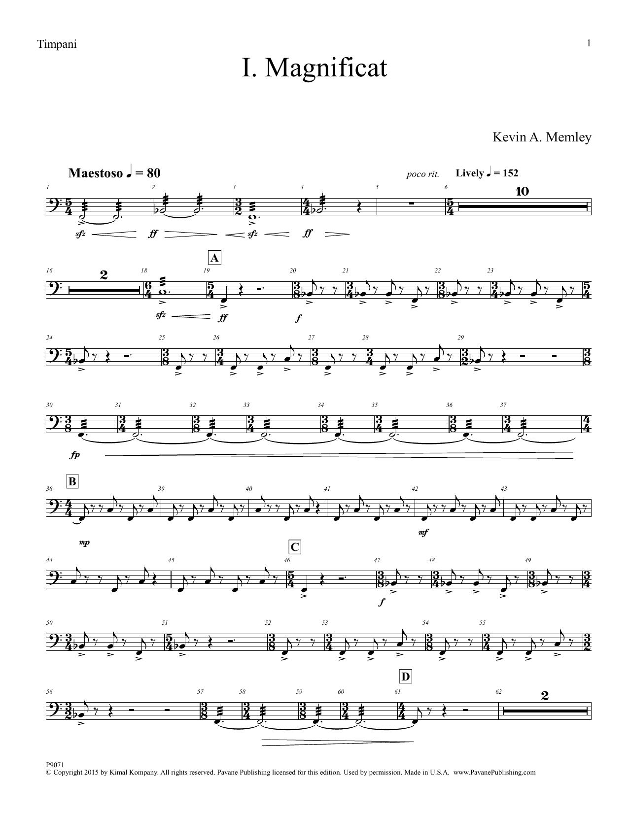 Magnificat - Timpani Sheet Music