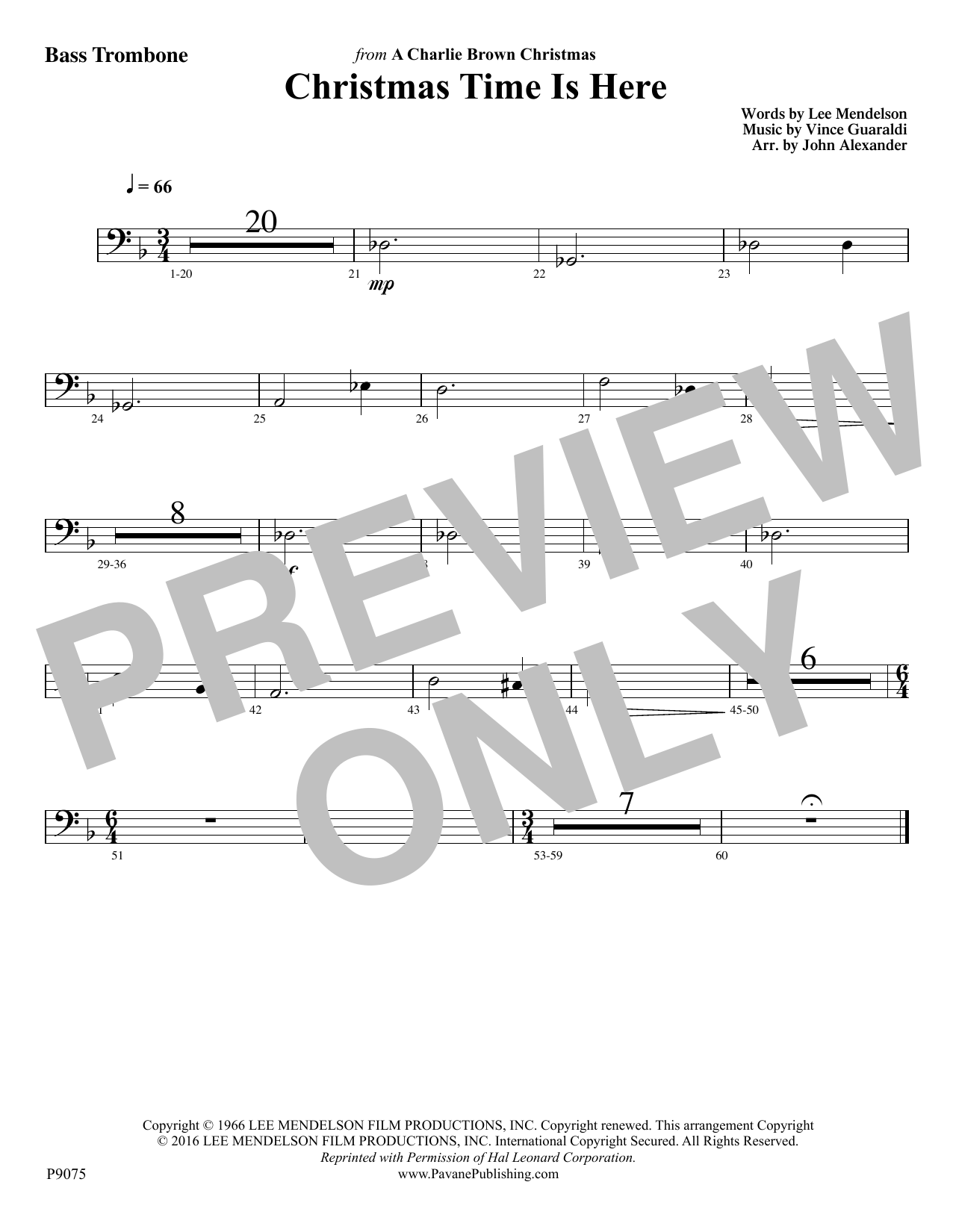 Christmas Time Is Here - Bass Trombone Digitale Noten