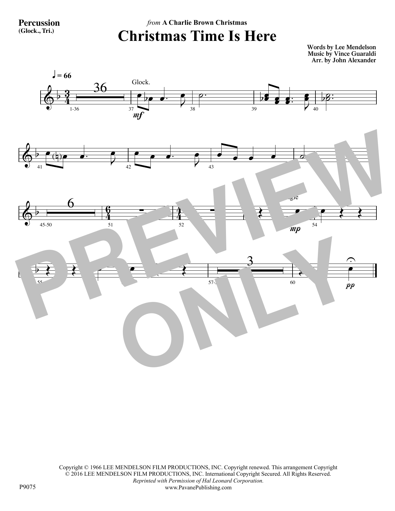 Christmas Time Is Here - Percussion Sheet Music