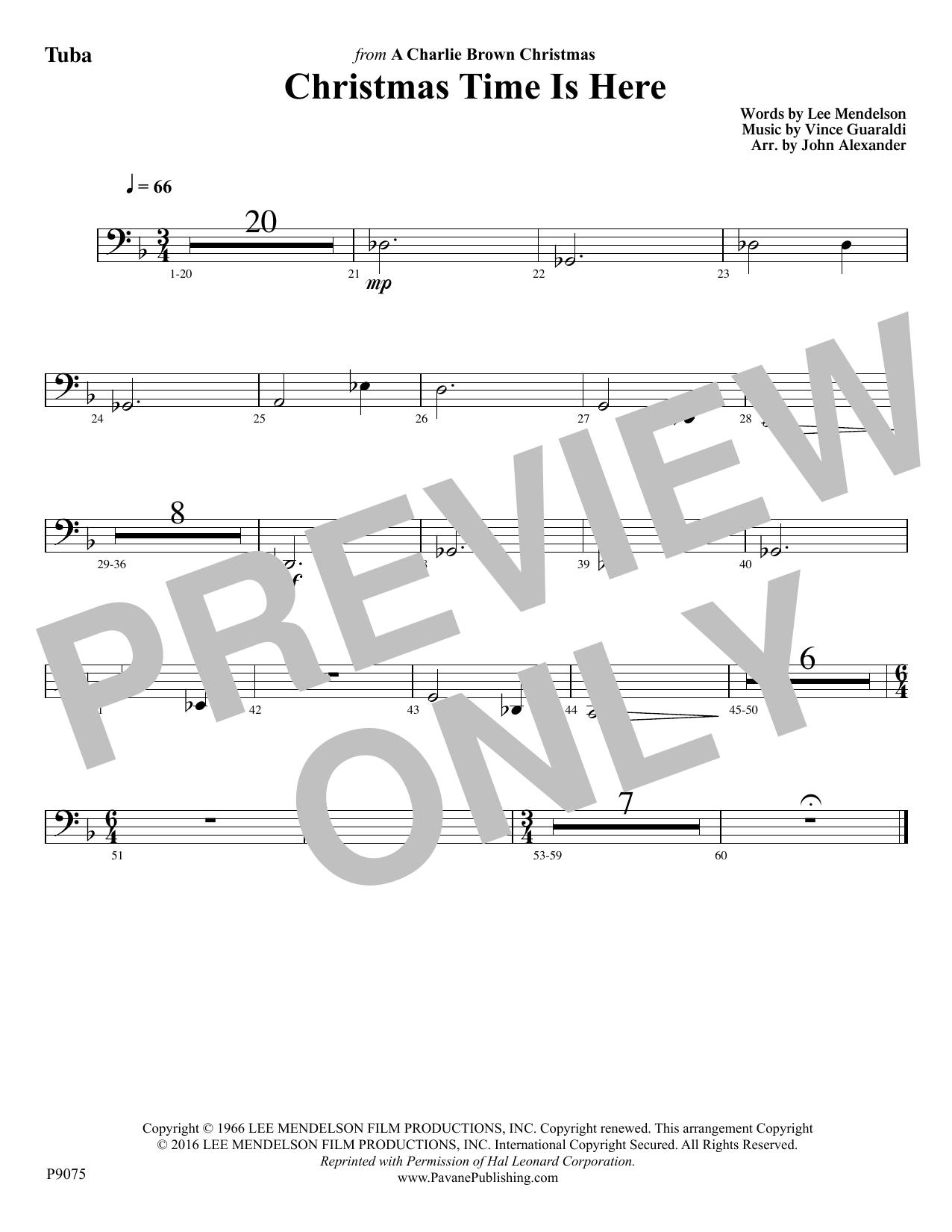 Christmas Time Is Here - Tuba Sheet Music