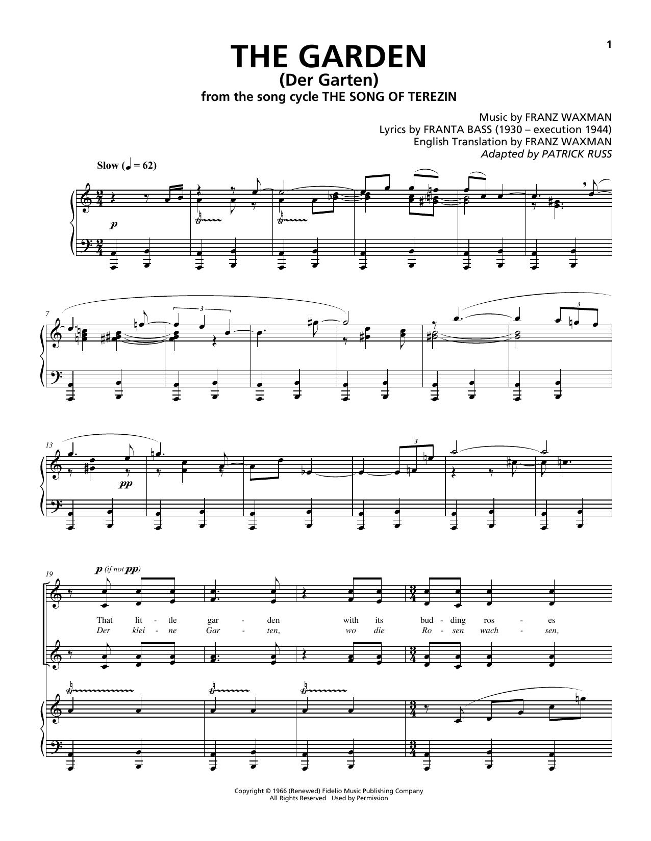 The Garden (Der Garten) (Piano & Vocal)