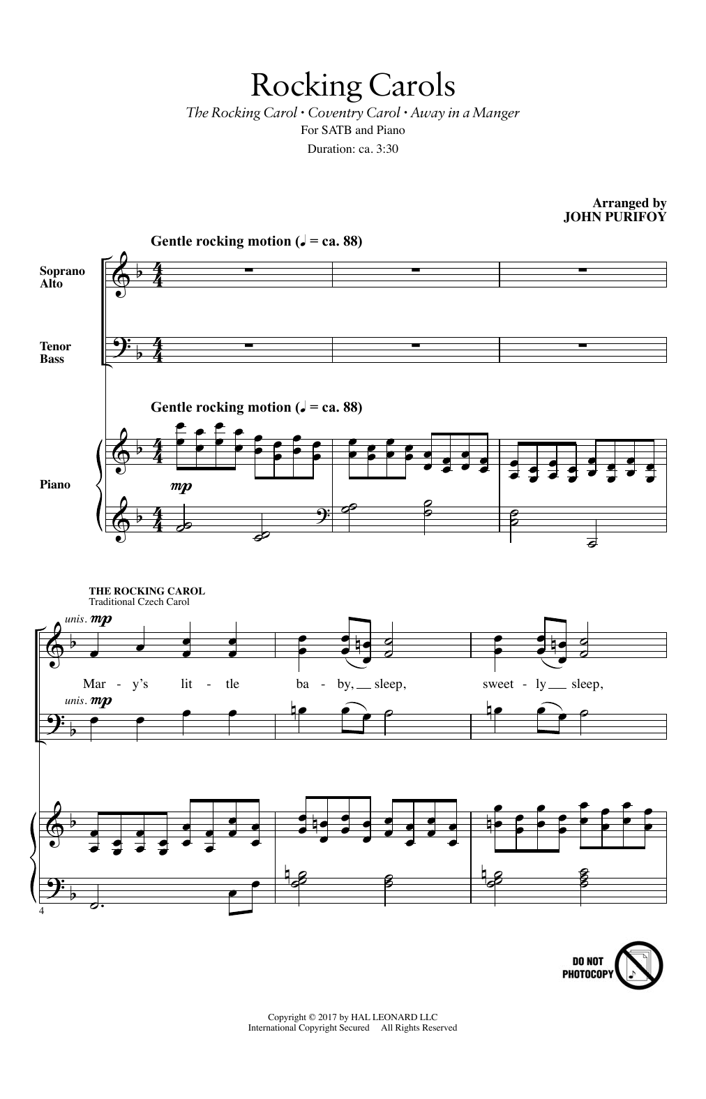 Rocking Carols (SATB Choir)
