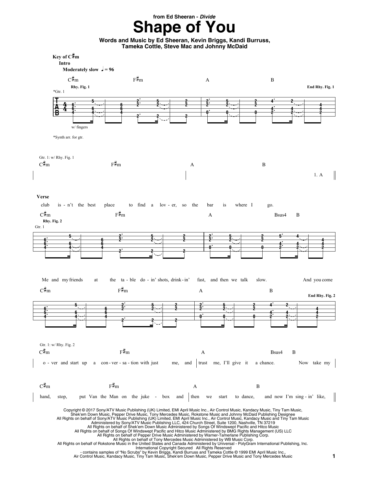 Shape Of You (Guitar Tab)