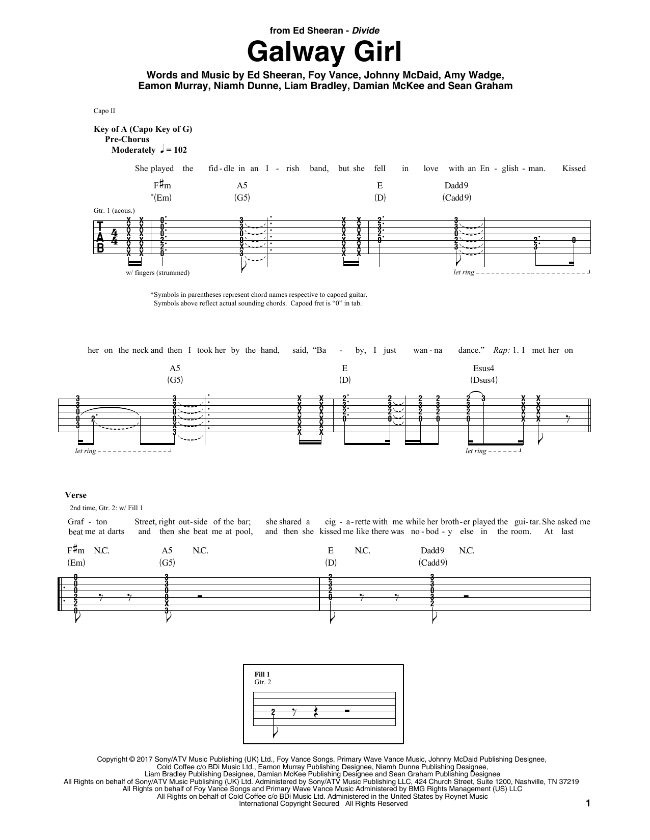 Galway Girl Sheet Music