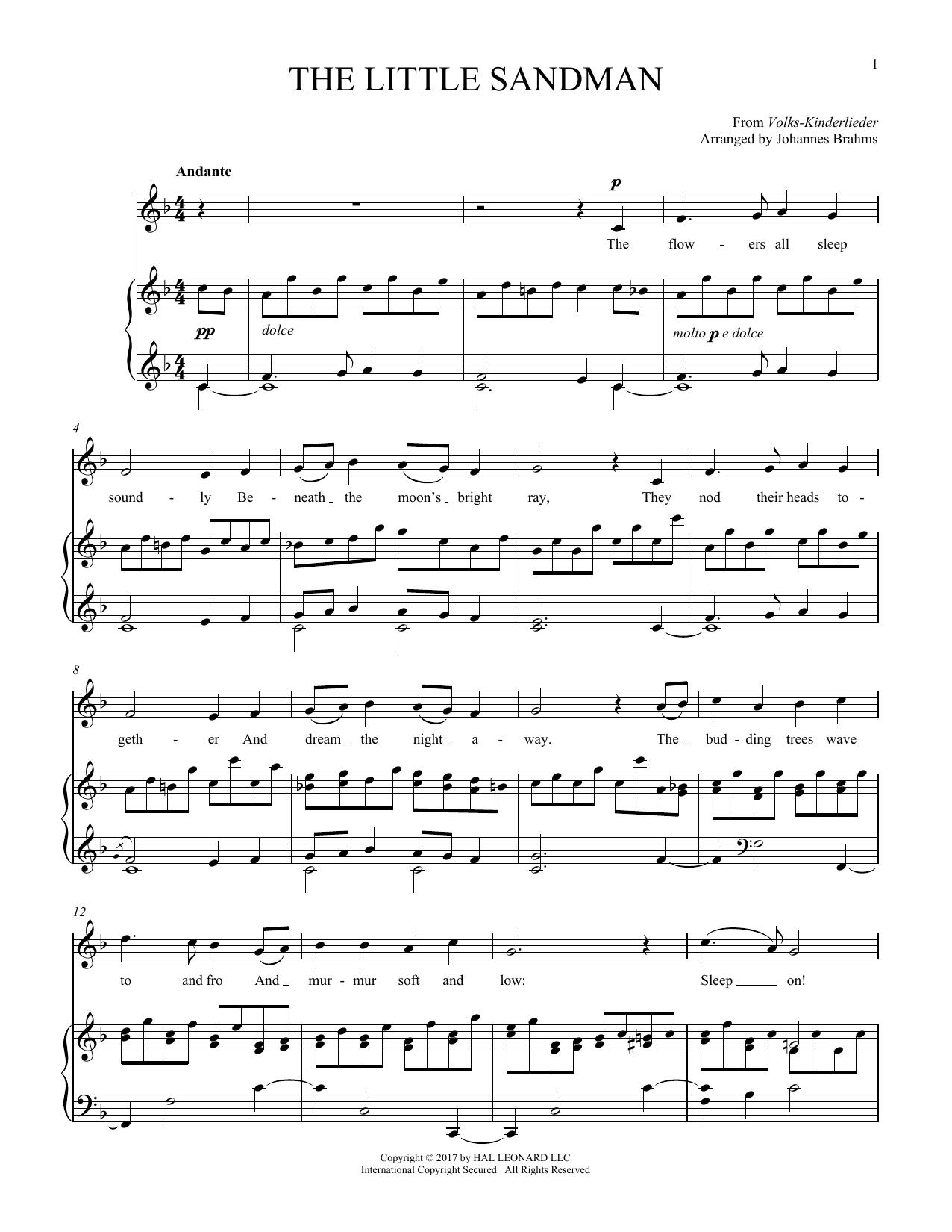 Sandmannchen (The Little Sandman), WoO 31, No. 4 (Piano & Vocal)