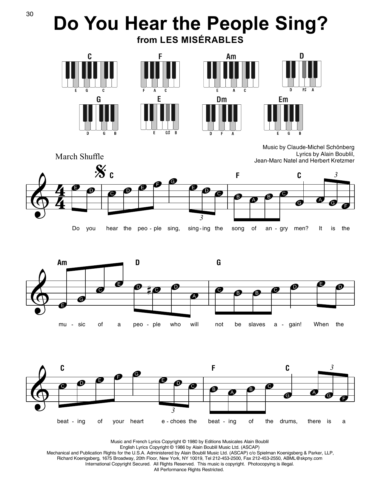 Do You Hear The People Sing? Sheet Music
