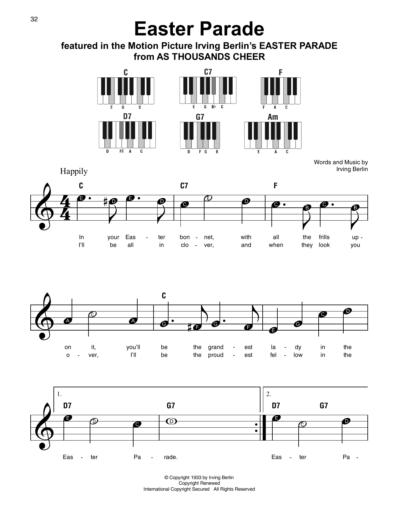 Easter Parade (Super Easy Piano)
