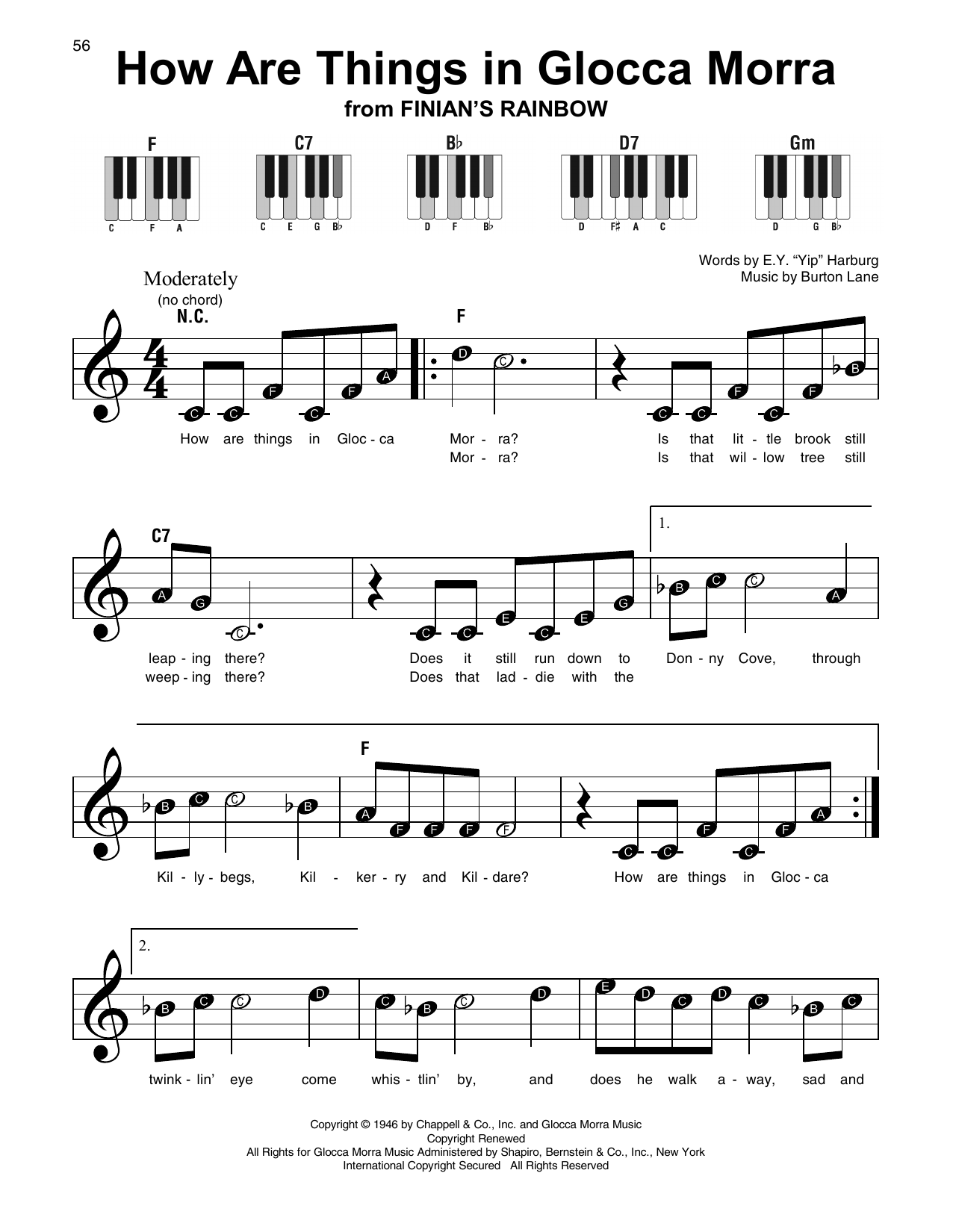 How Are Things In Glocca Morra (Super Easy Piano)