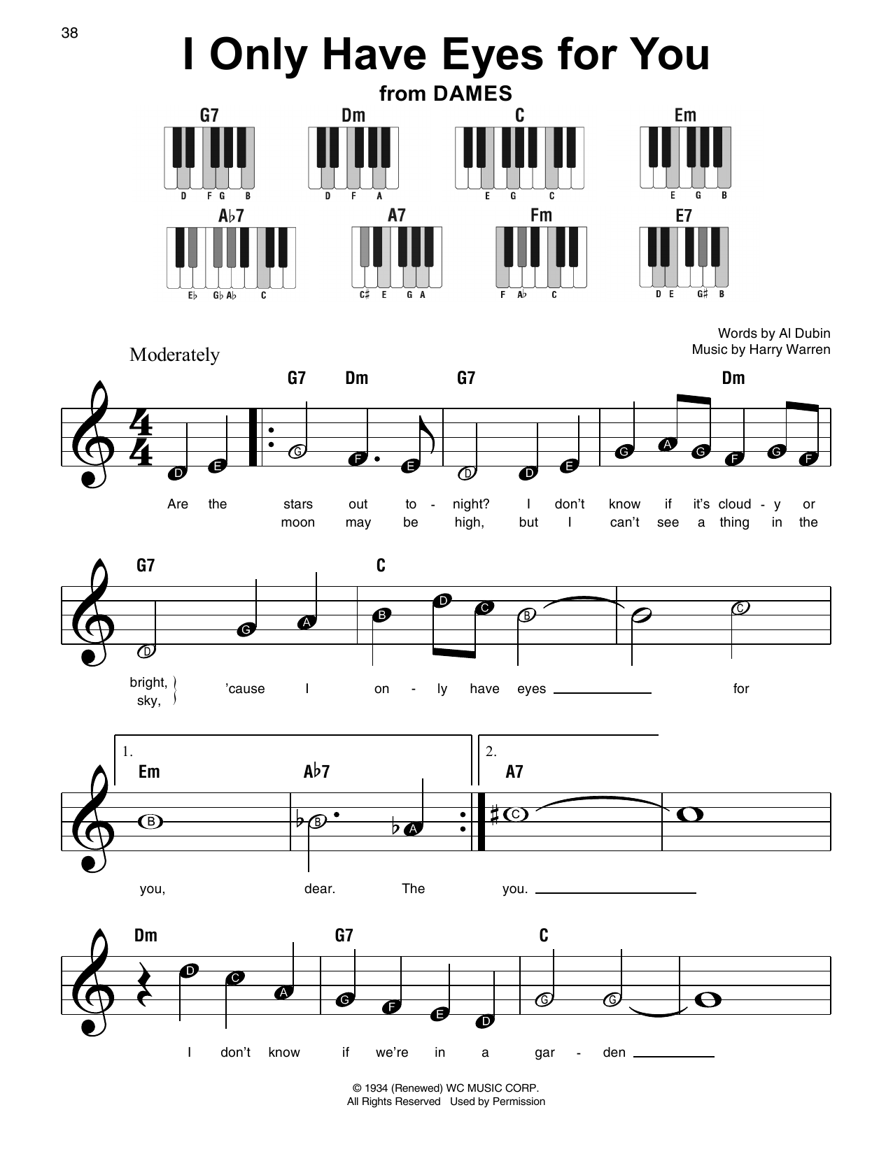 I Only Have Eyes For You Sheet Music