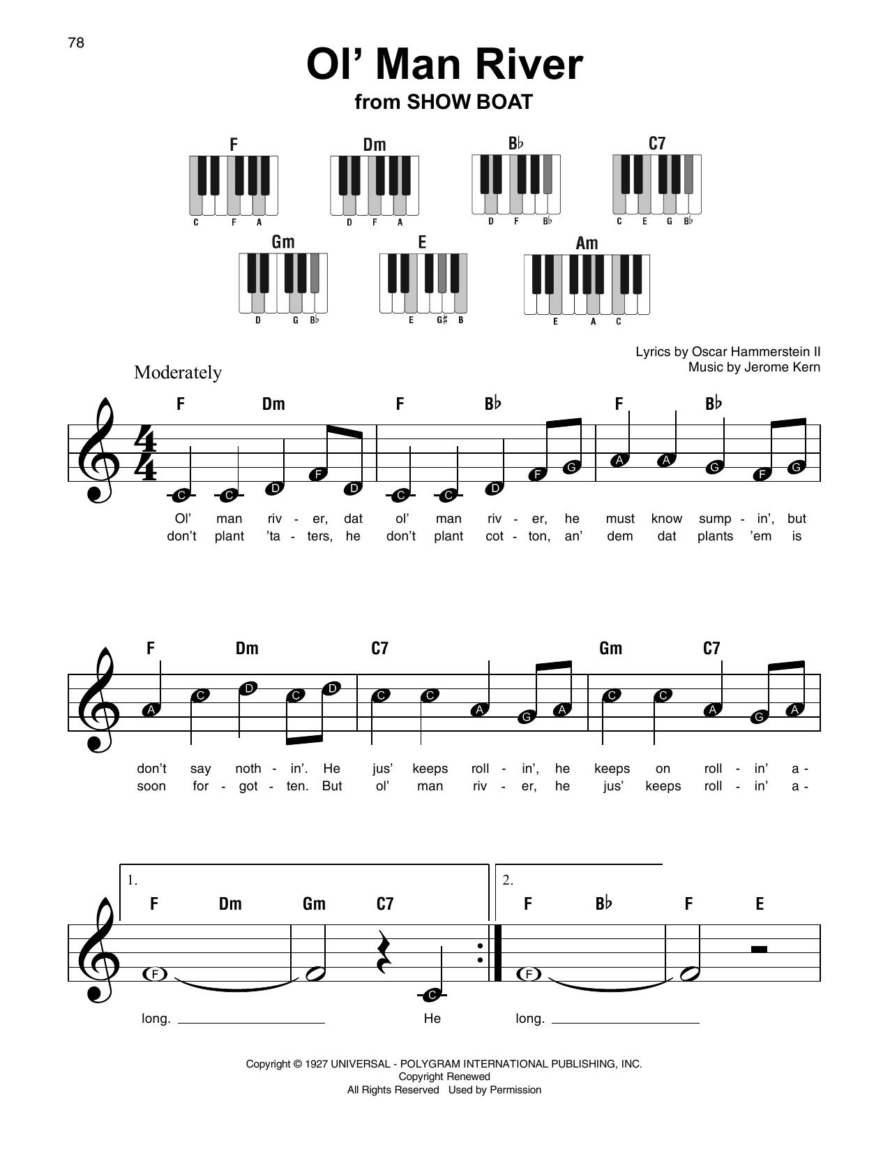 Ol' Man River (Super Easy Piano)
