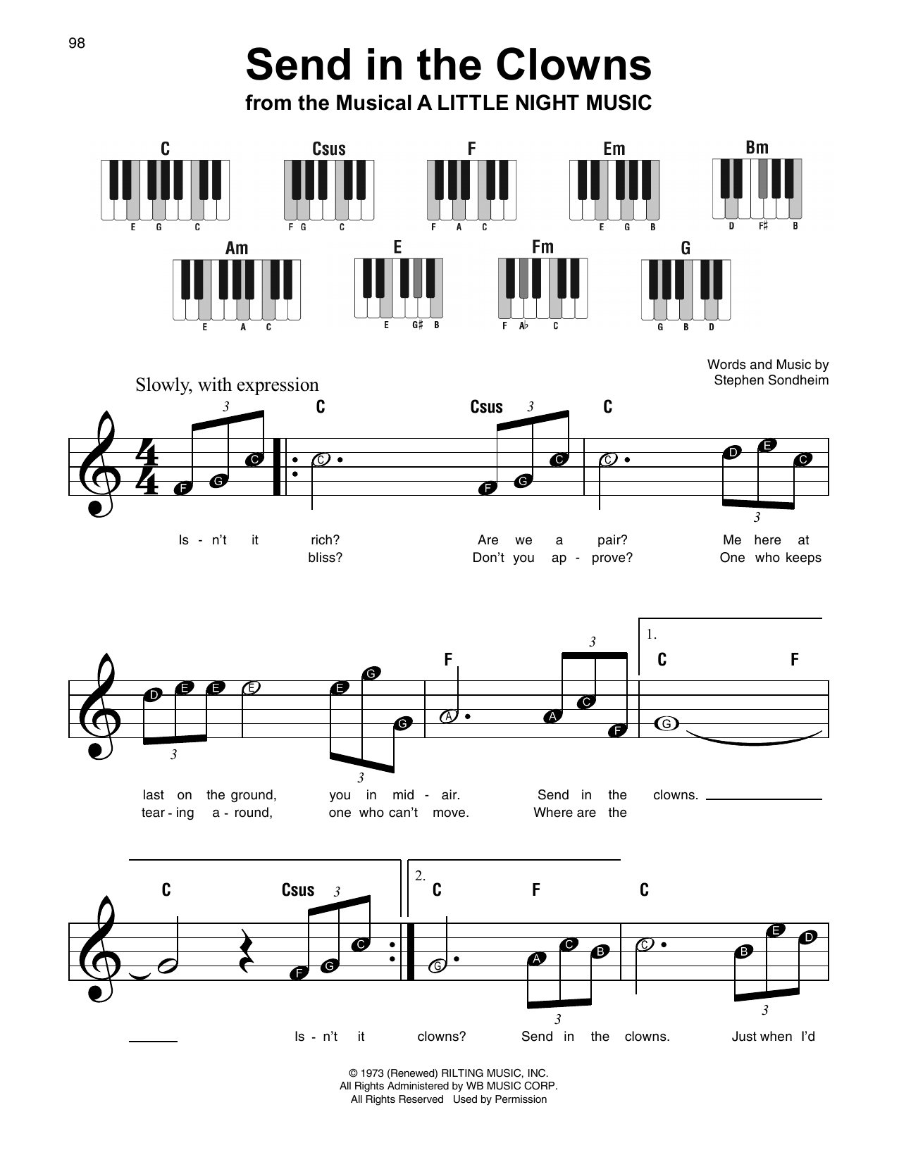 Send In The Clowns Sheet Music