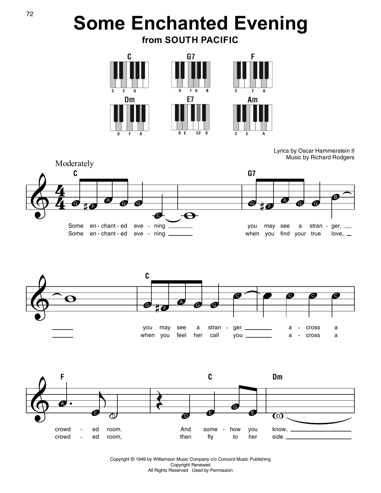 Some Enchanted Evening Sheet Music
