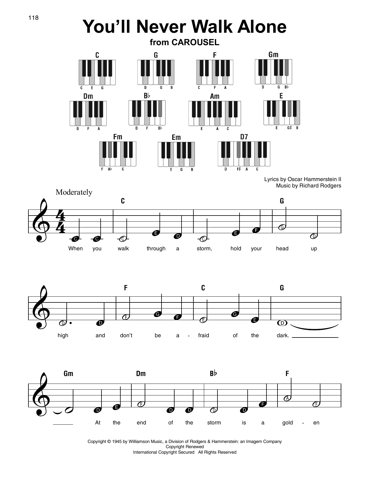 You'll Never Walk Alone Sheet Music