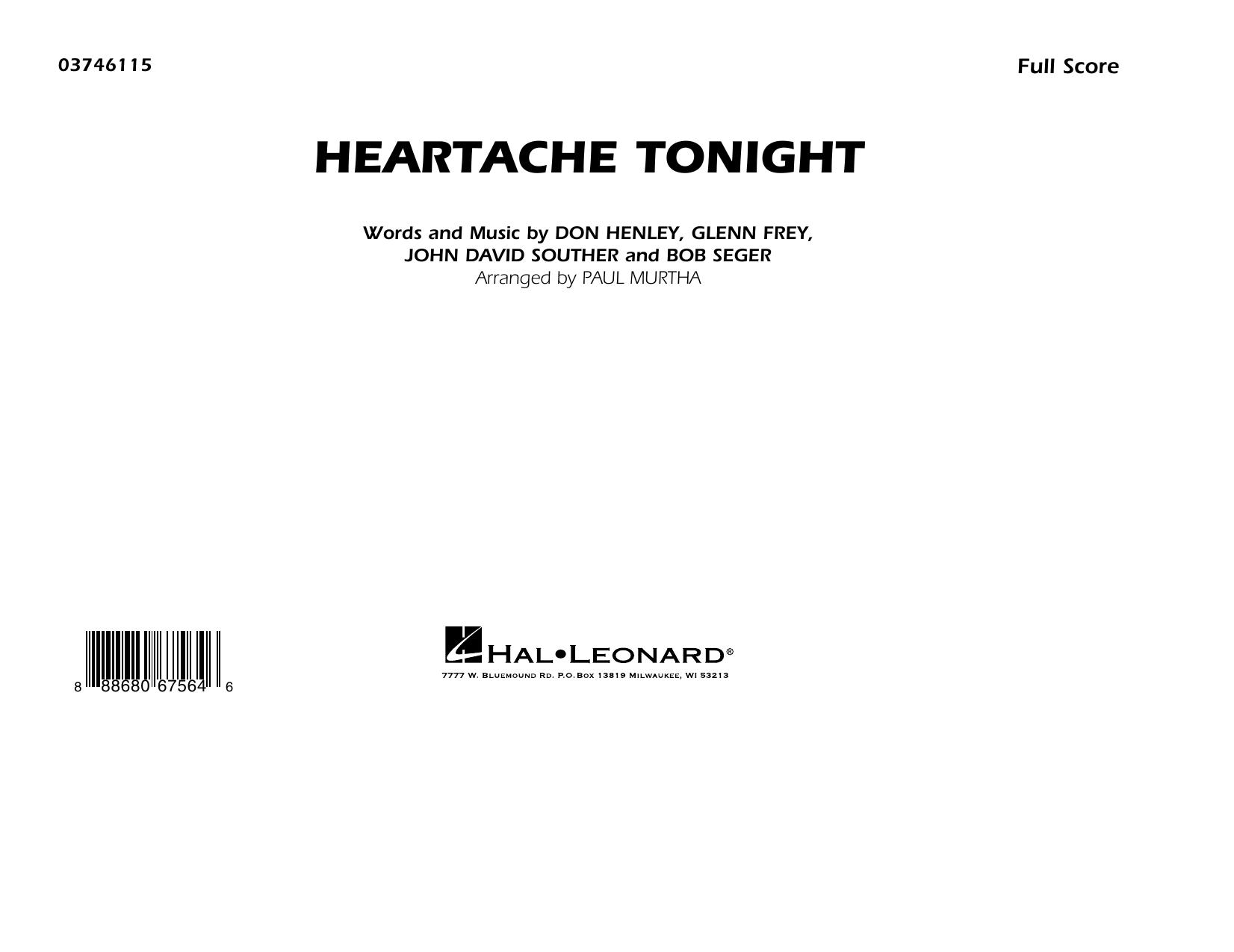 Heartache Tonight - Conductor Score (Full Score) Sheet Music