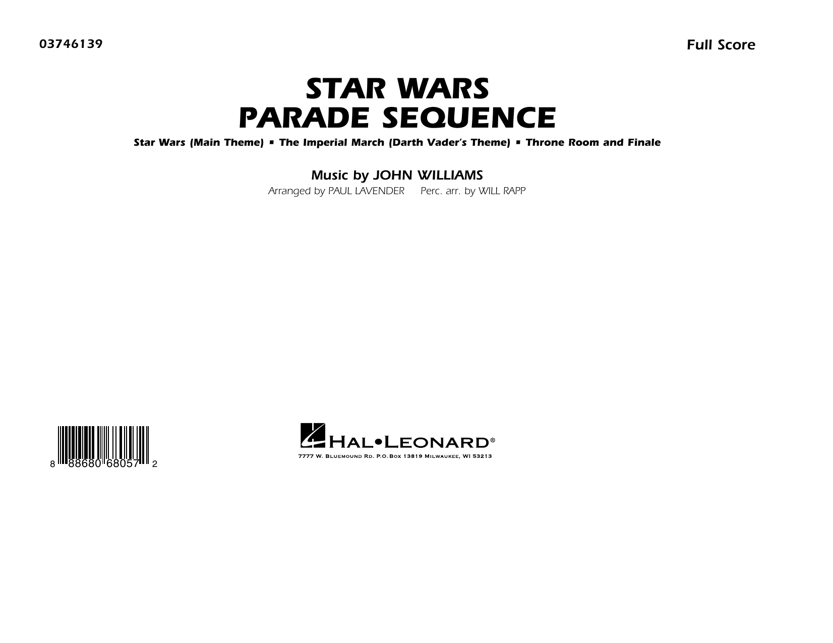 Star Wars Parade Sequence - Conductor Score (Full Score) Sheet Music