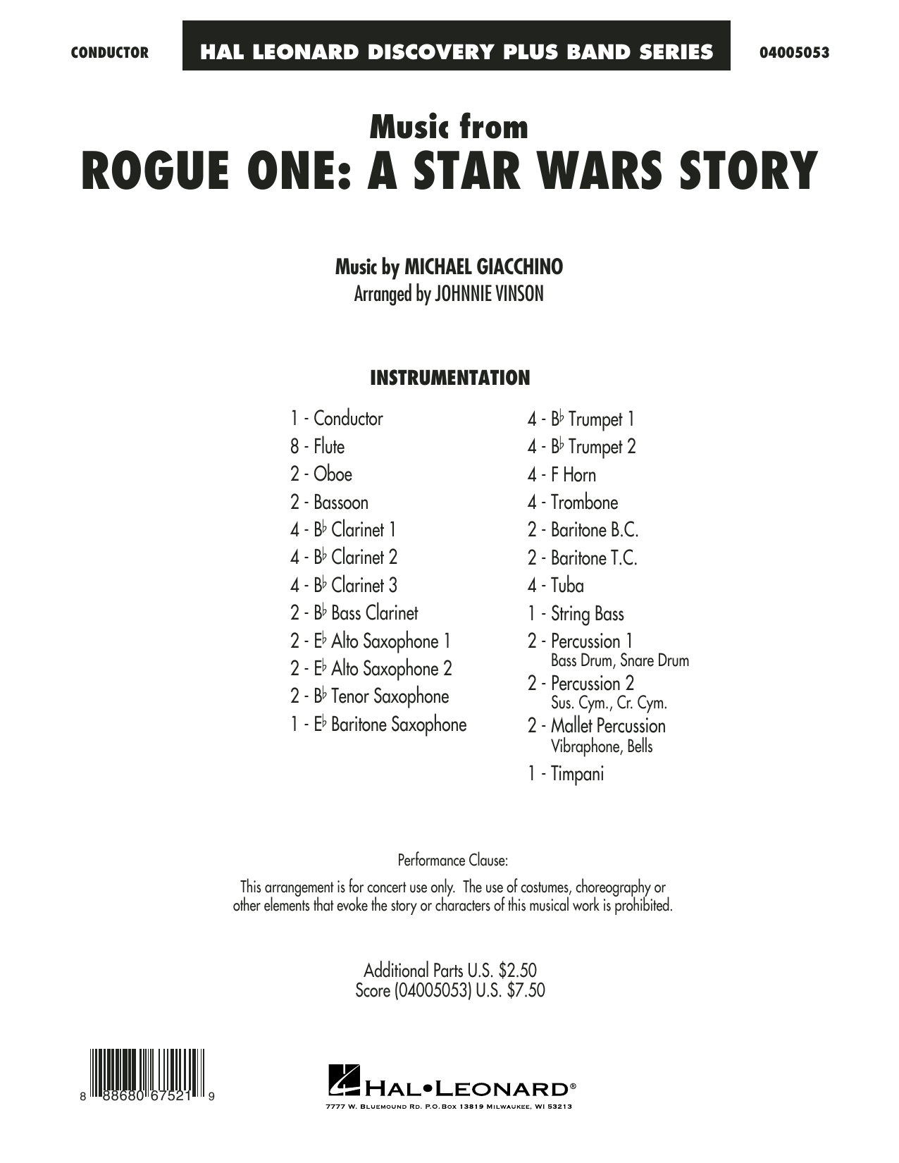 Music from Rogue One: A Star Wars Story - Conductor Score (Full Score) Sheet Music