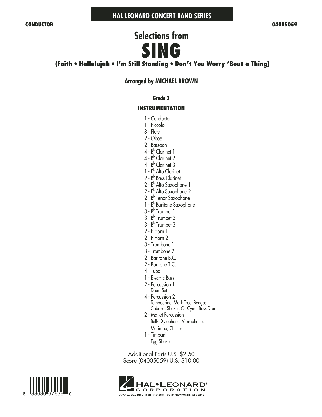 Selections from Sing - Conductor Score (Full Score) Sheet Music