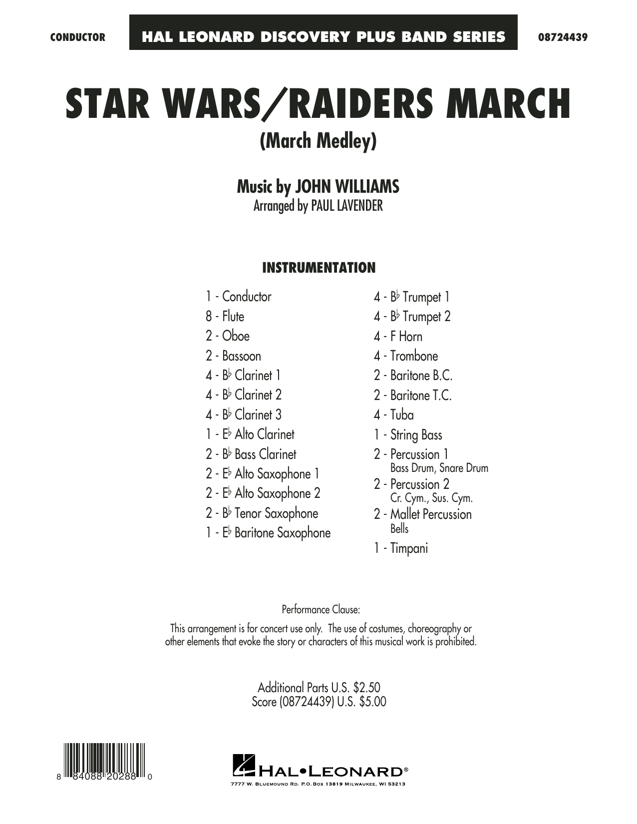 Star Wars/Raiders March - Full Score Sheet Music