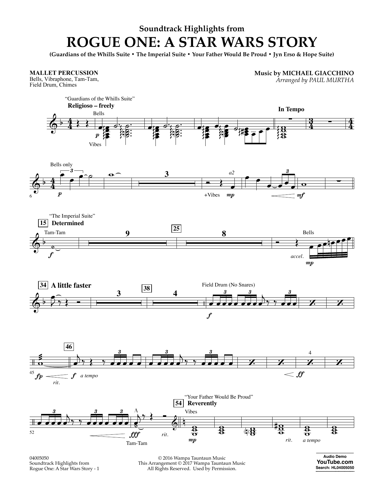 Rogue One: A Star Wars Story - Mallet Percussion Sheet Music