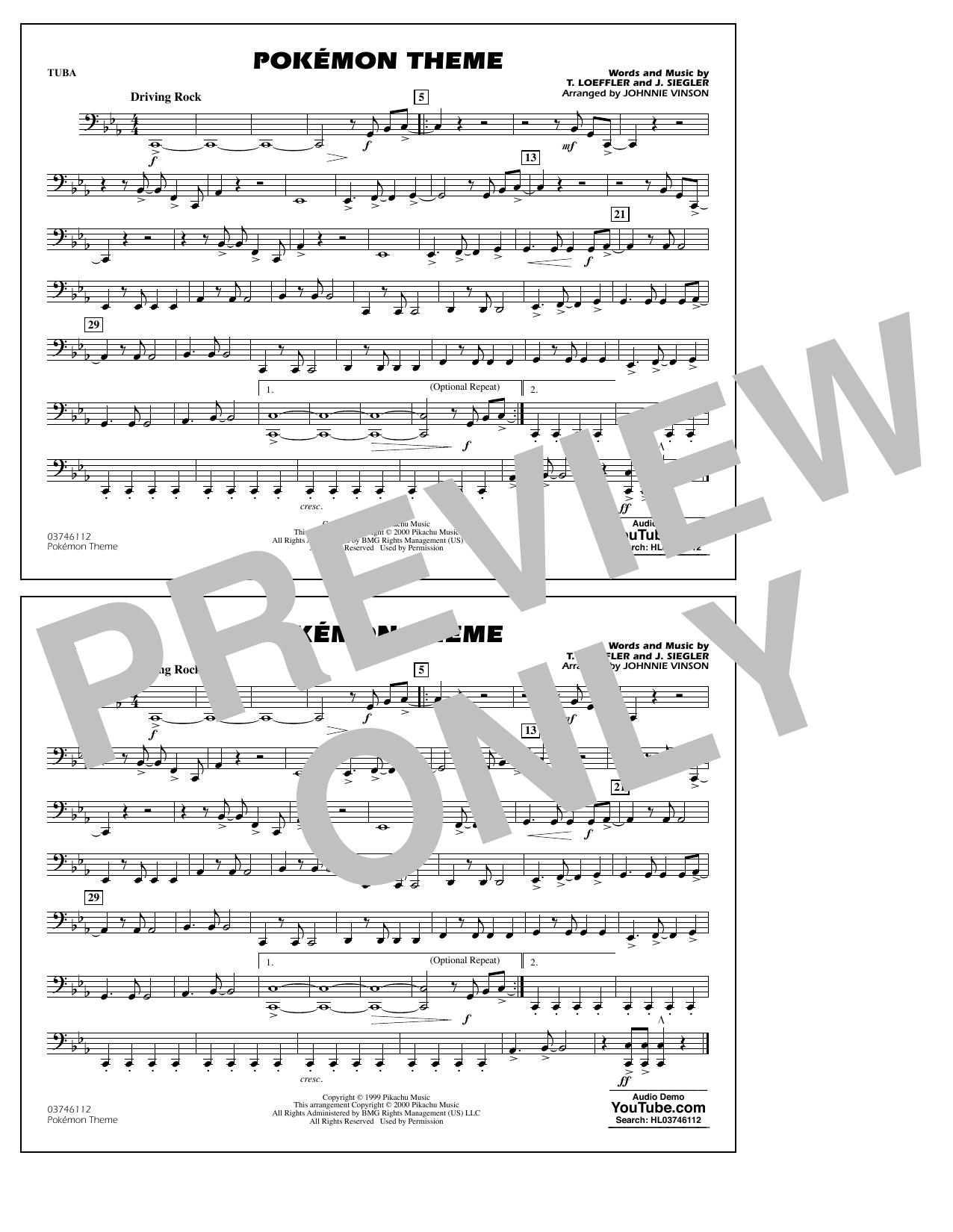 Pokémon Theme - Tuba Sheet Music