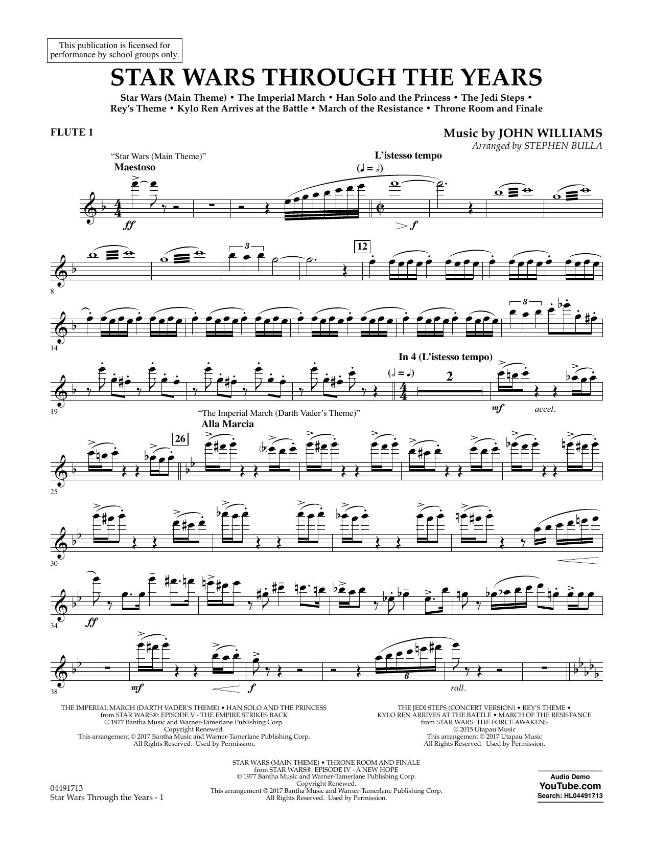 Star Wars Through the Years - Flute 1 Partituras Digitales
