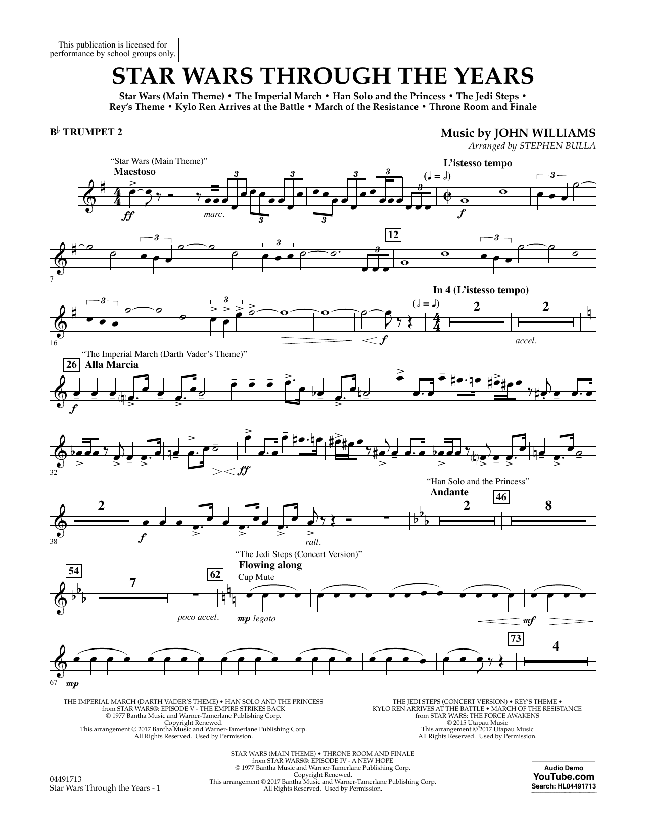 Star Wars Through the Years - Bb Trumpet 2 Sheet Music