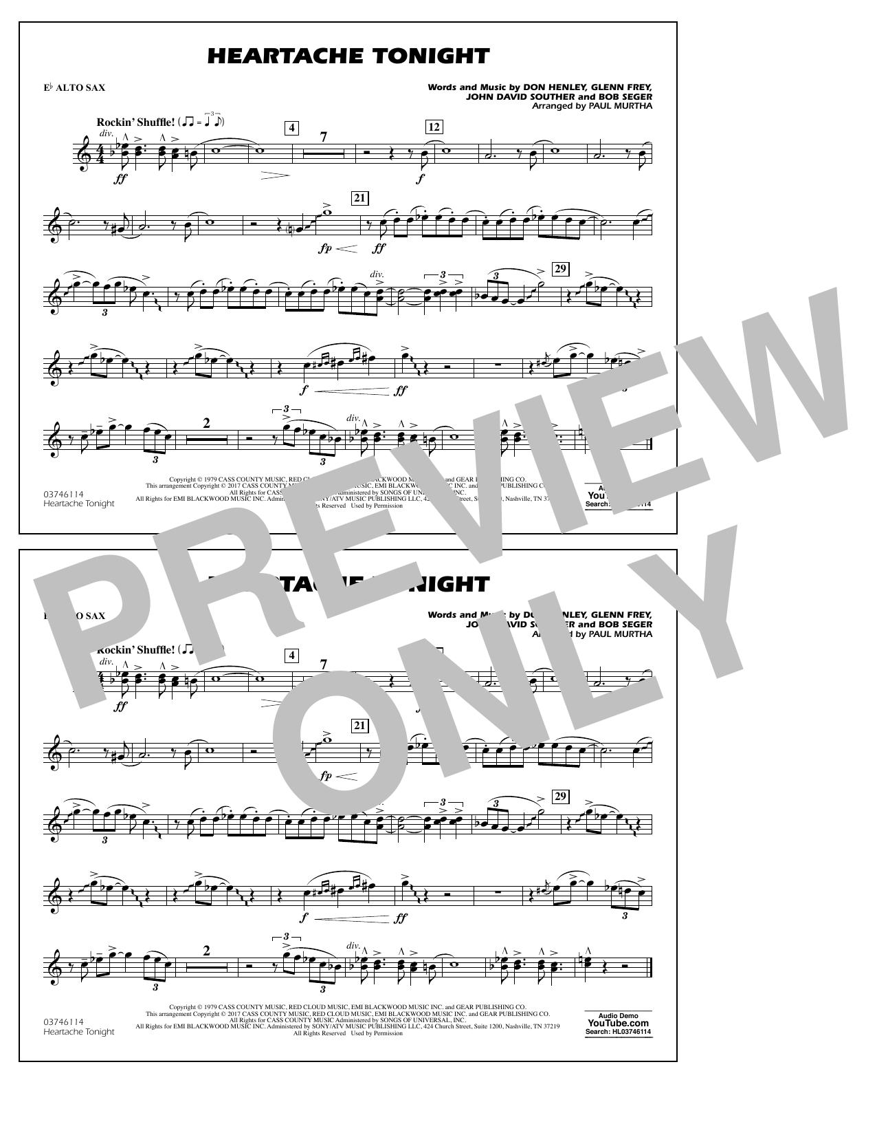 Heartache Tonight - Eb Alto Sax Sheet Music