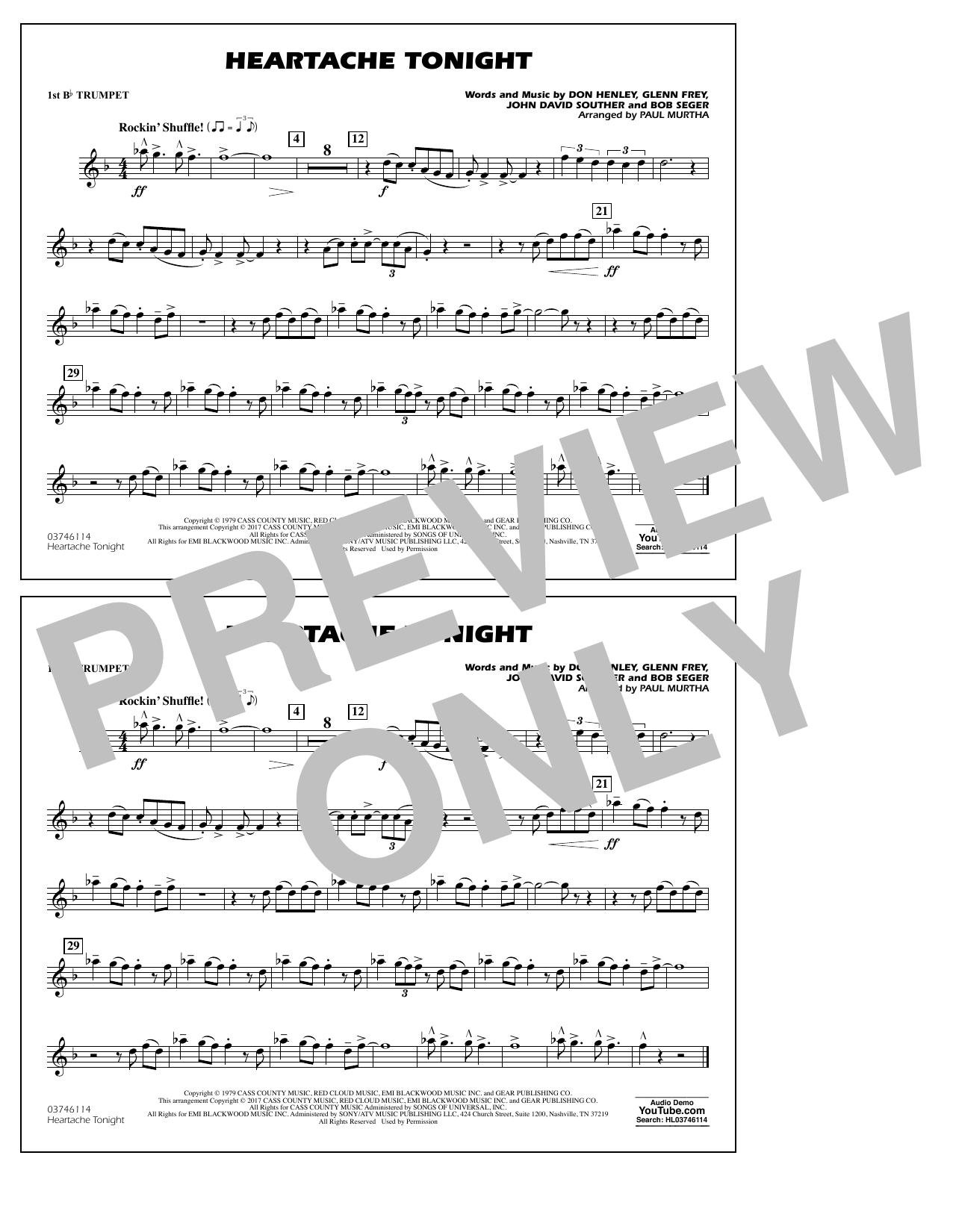 Heartache Tonight - 1st Bb Trumpet Sheet Music